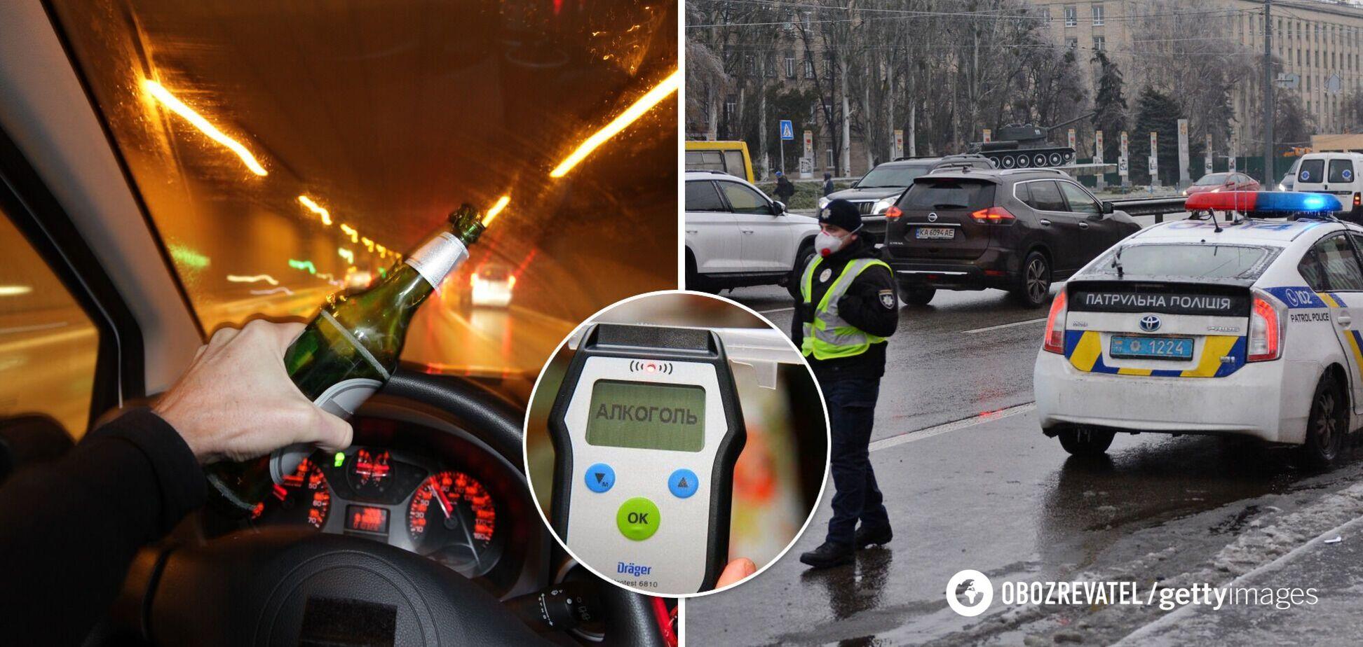 Штраф за п'яне водіння 2021