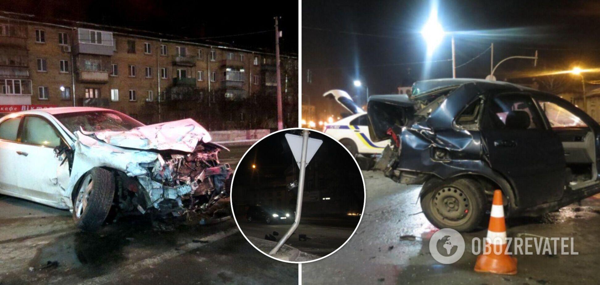 На Киевщине пьяный несовершеннолетний устроил ДТП: погиб мужчина. Фото и видео