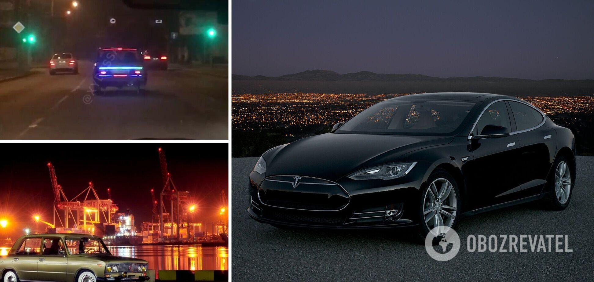 В Одессе заметили 'автомобиль будущего', которому позавидует Маск. Видео