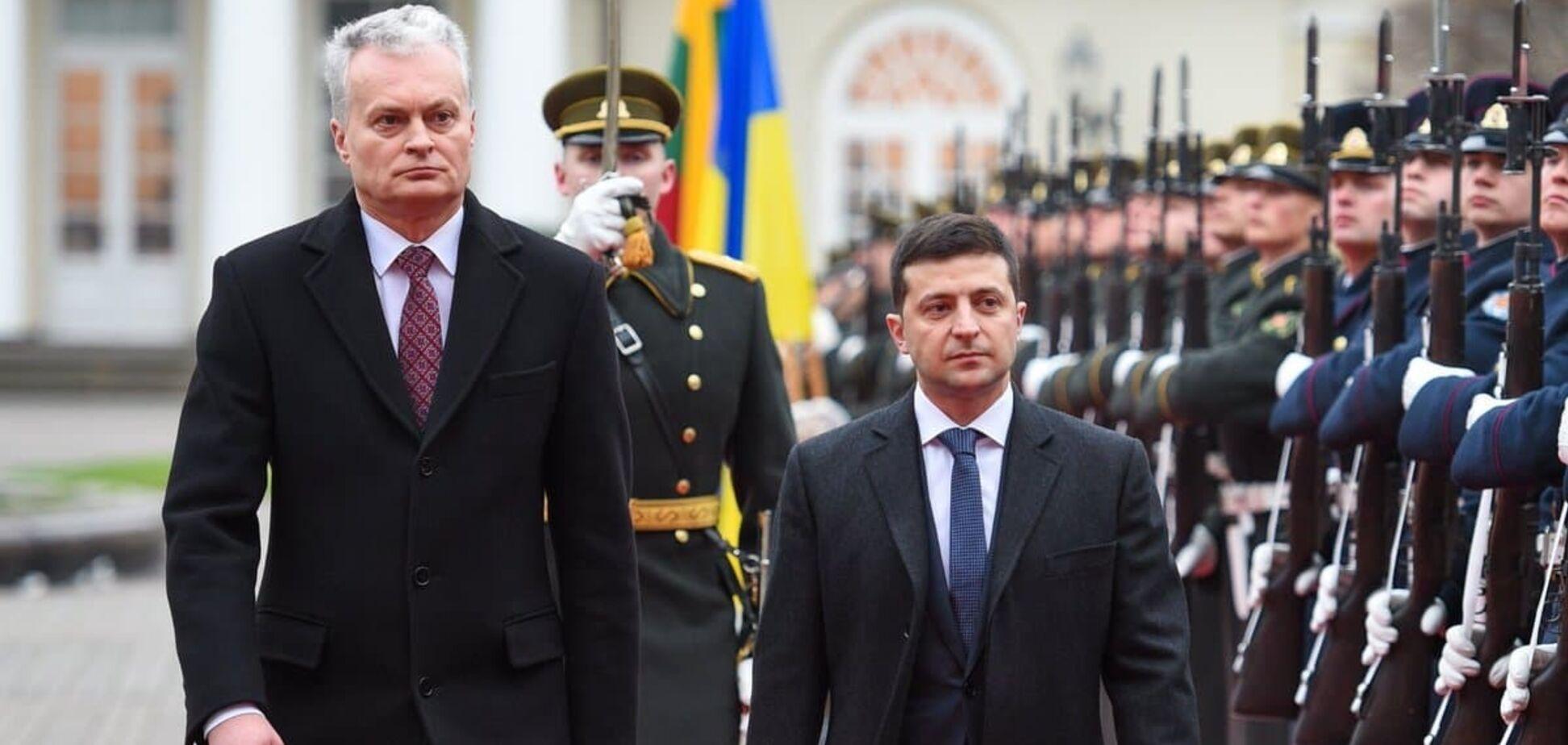 Президент Литвы Гитанас Науседа призвал Владимира Зеленского идти дорогой Порошенко в ЕС и НАТО