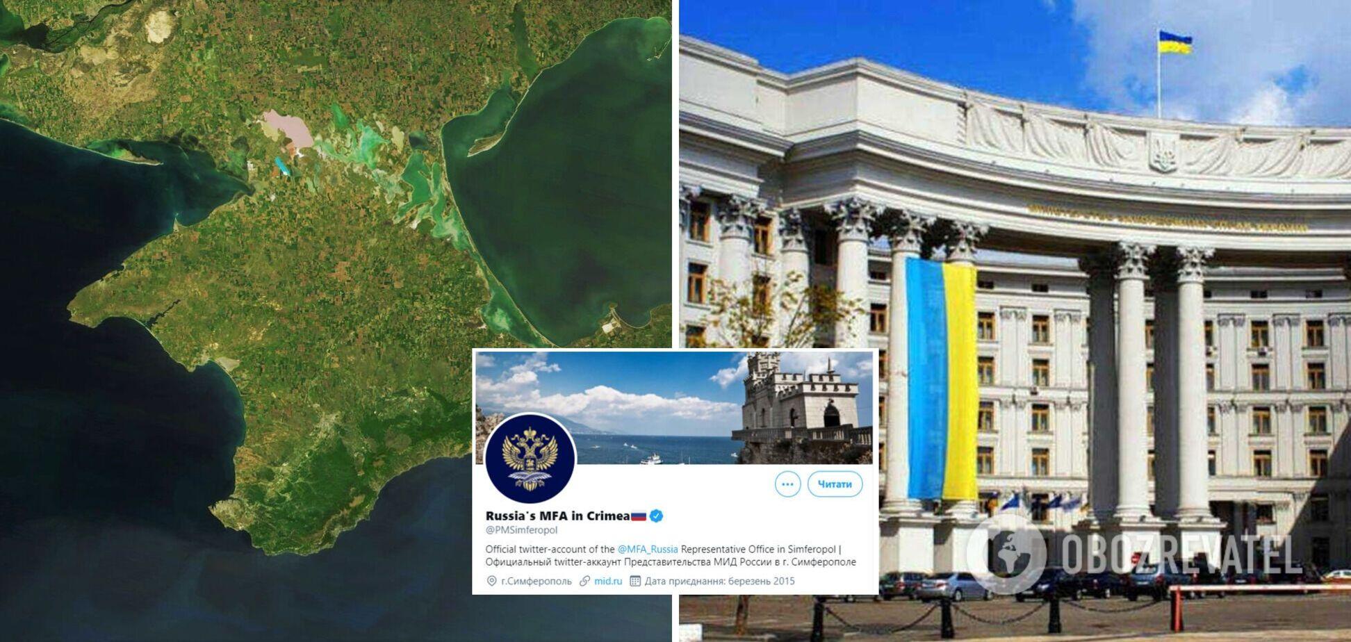 Twitter официально признал Россию в Крыму: в МИД Украины ответили