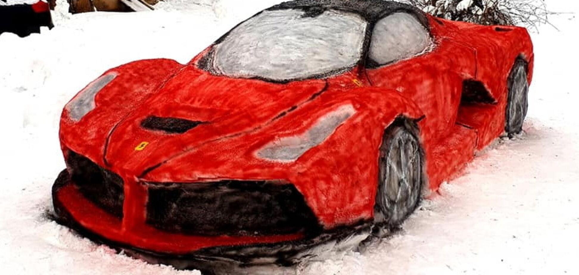 Ferrari зі снігу створили у Литві