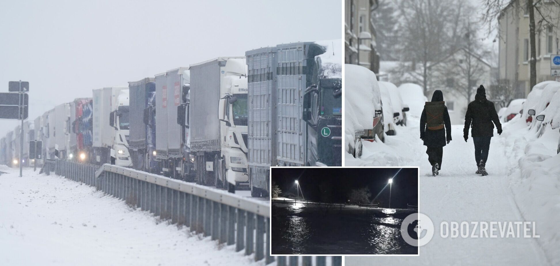Снегопад парализовал движение в ряде европейских стран
