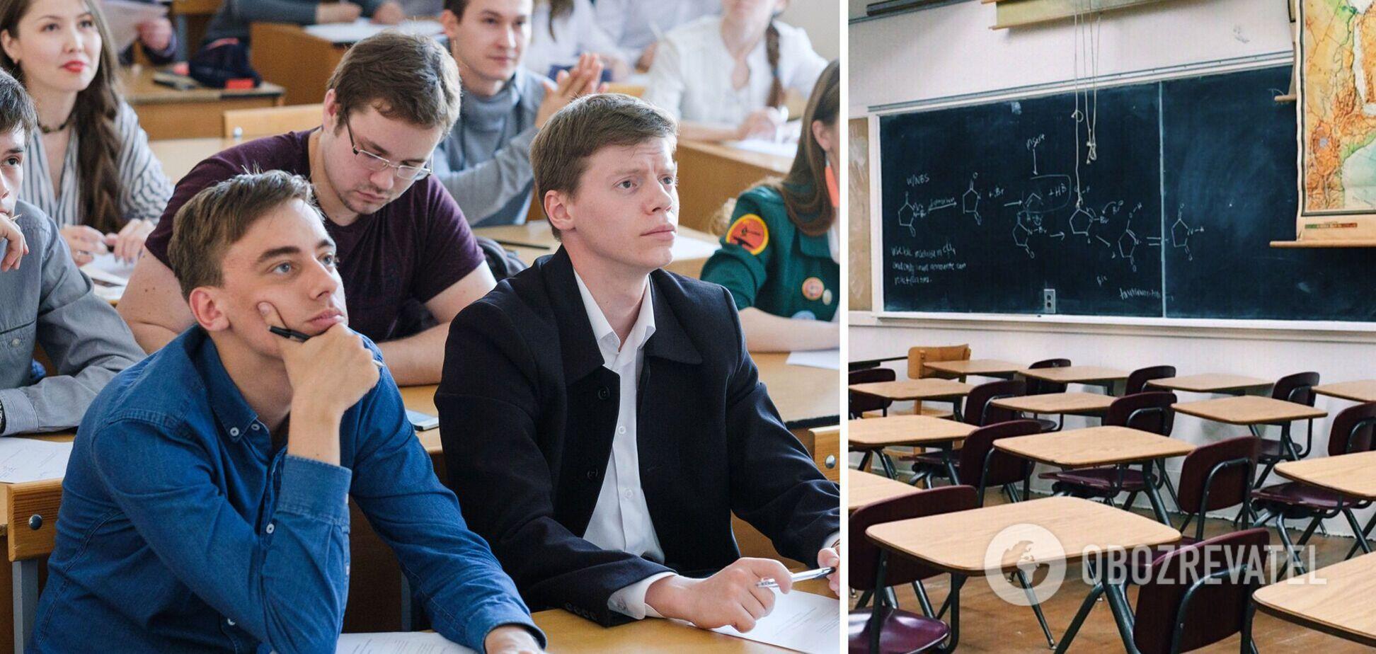 Шкарлет объяснил ликвидацию в школах Украины старших классов
