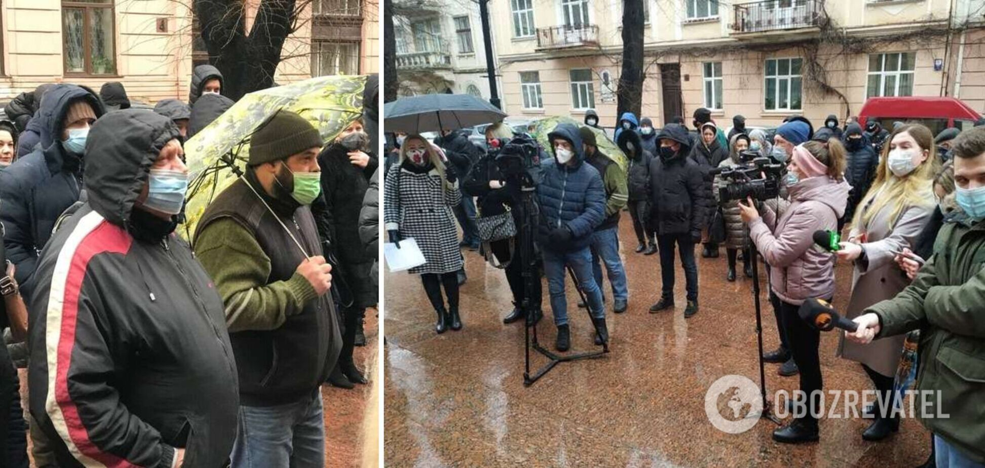Жителі двох областей України вийшли на протести через посилення карантину. Фото і відео