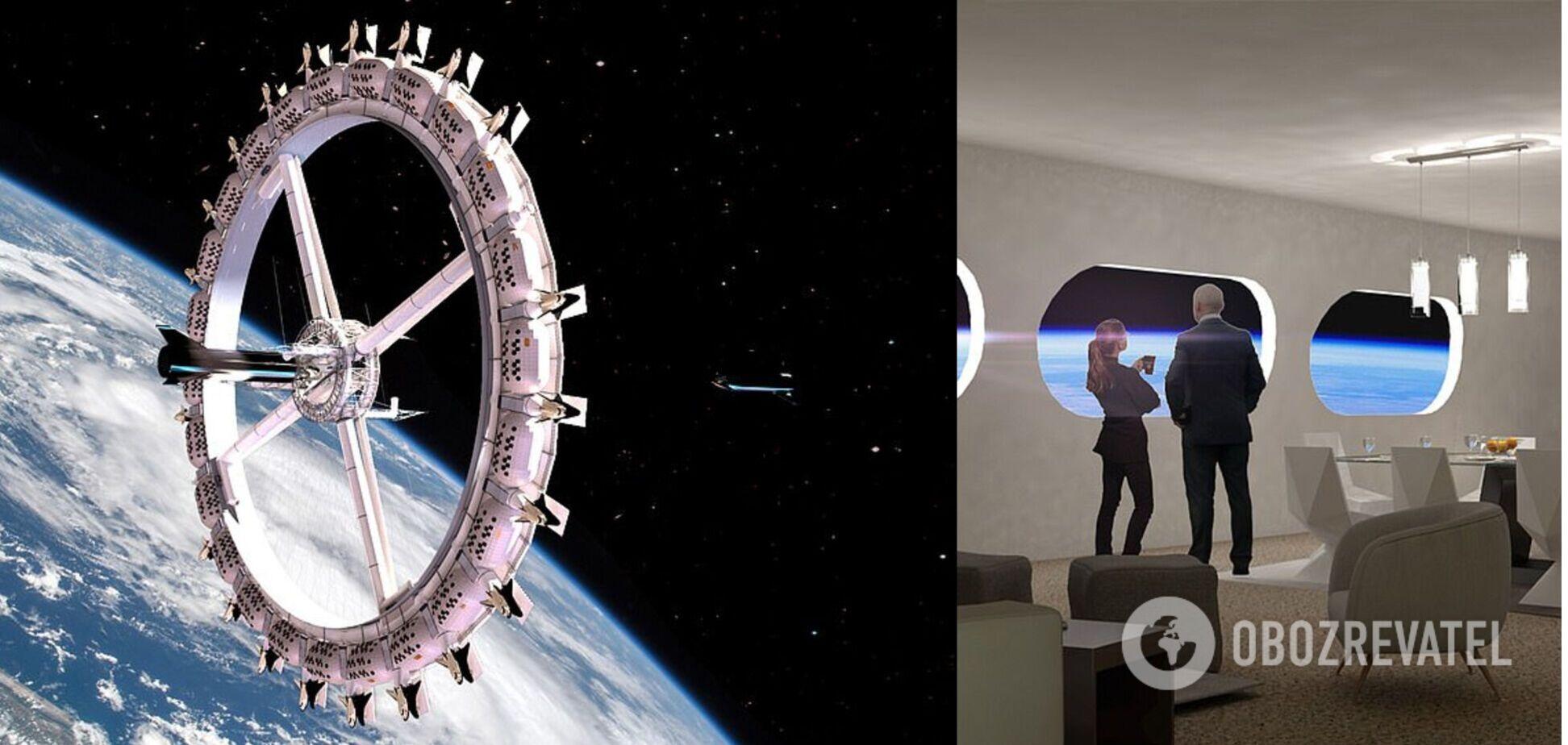 В 2025 году начнут строить первый космический отель. Фото