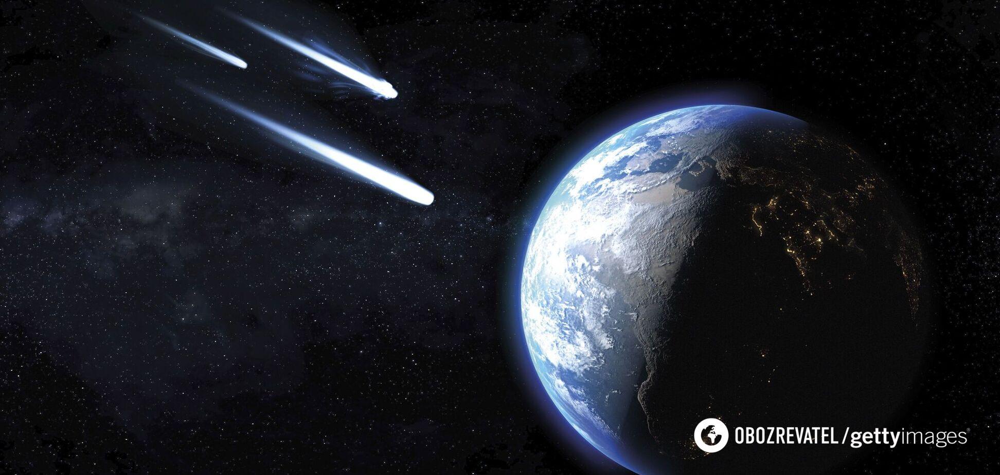Падение метеора на Землю