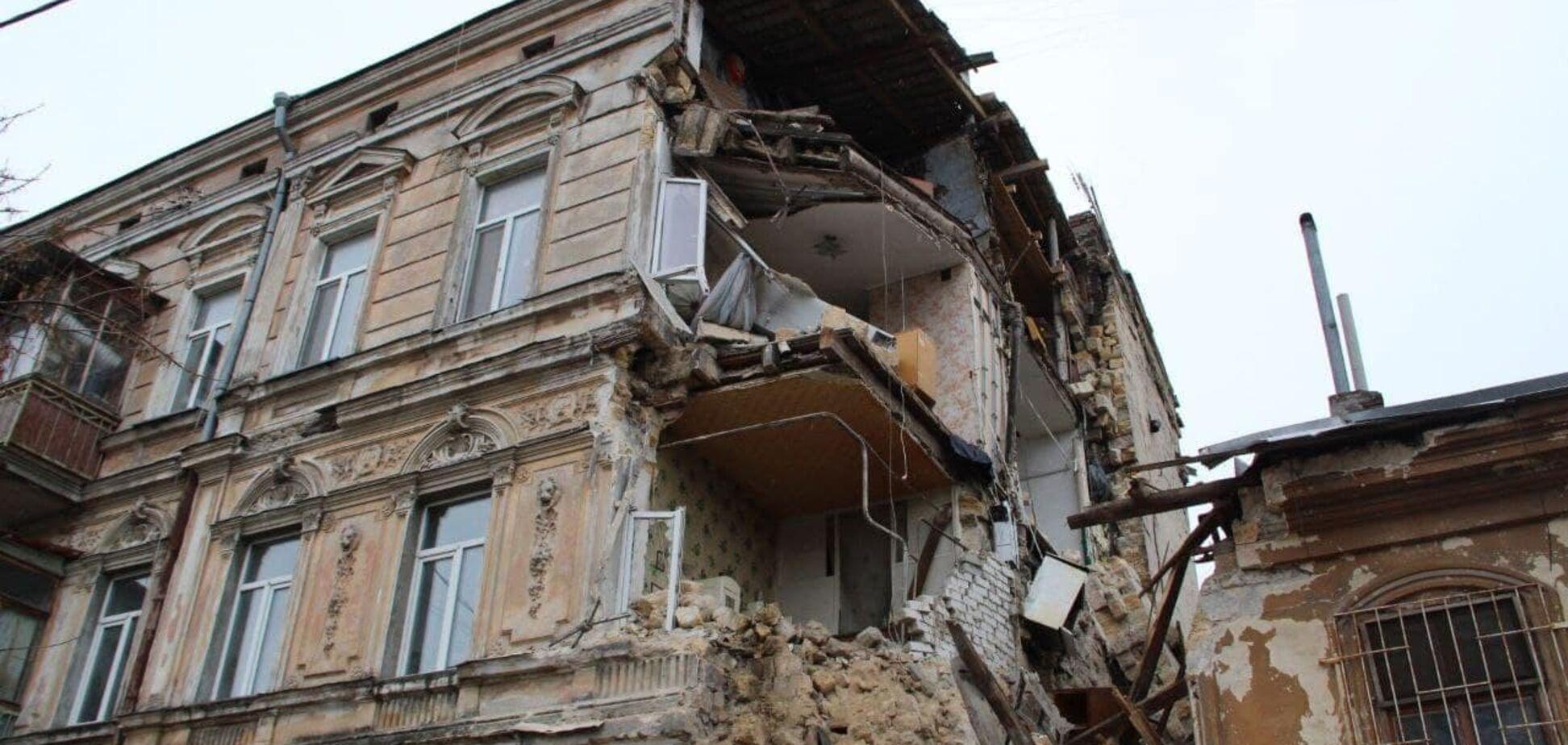 В Одесі обвалилася ще одна пам'ятка архітектури. Фото
