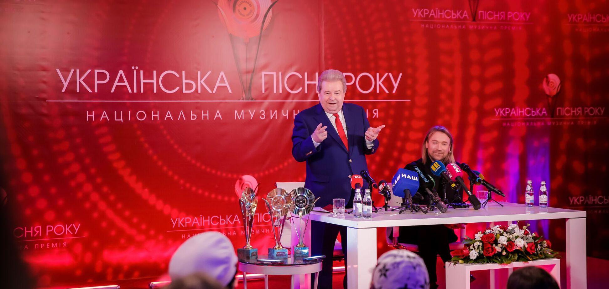 Винник и Поплавский анонсировали музыкальную премию 'Украинская песня года 2020'