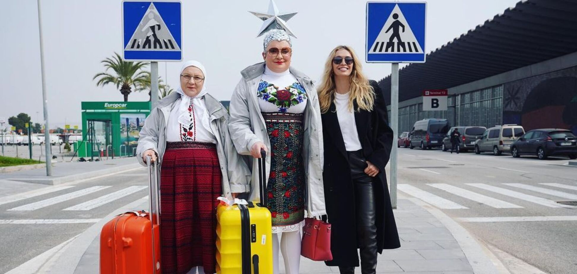 Сердючка и Брежнева в аэропорту