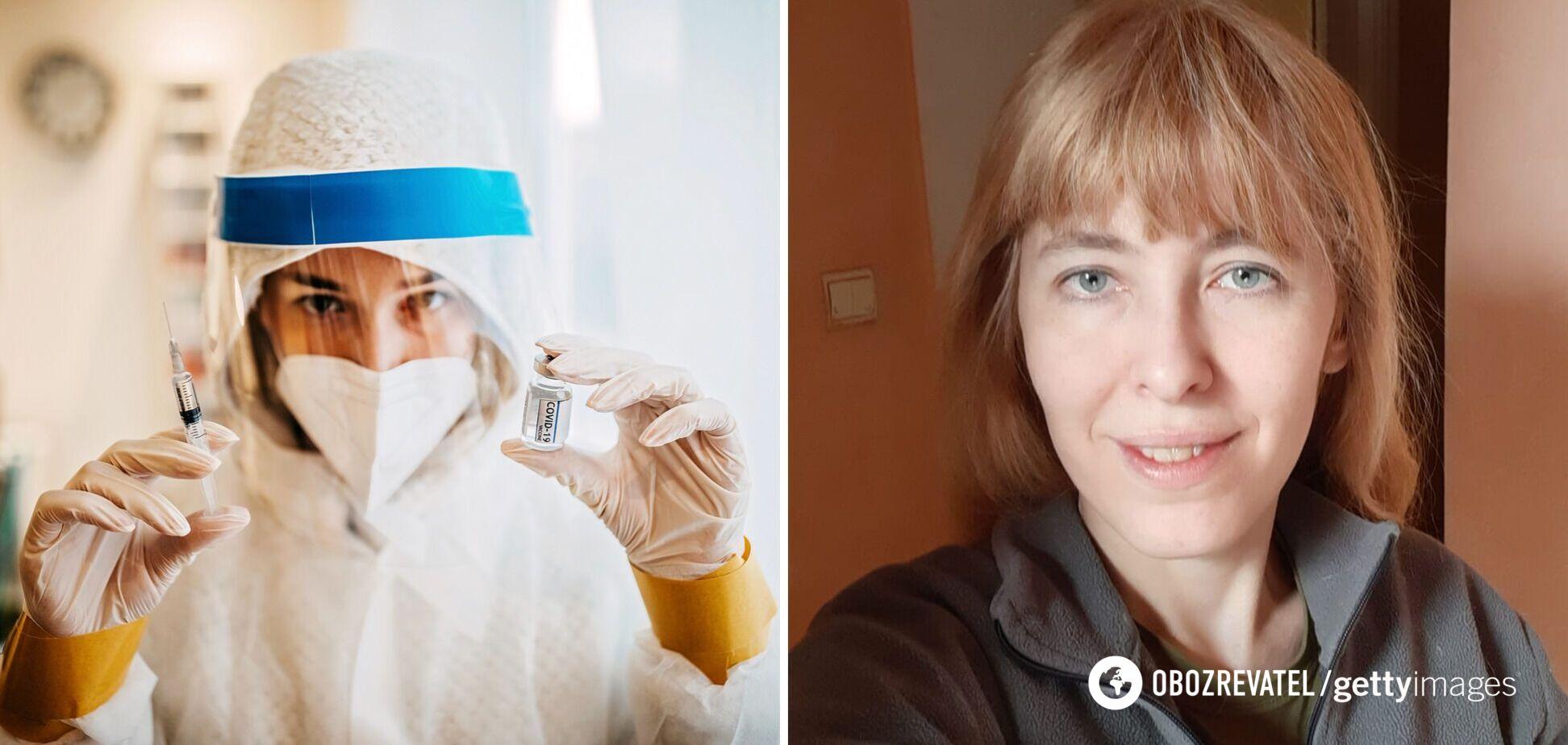 Ветеранка АТО описала 'побочки' після вакцинації проти коронавірусу