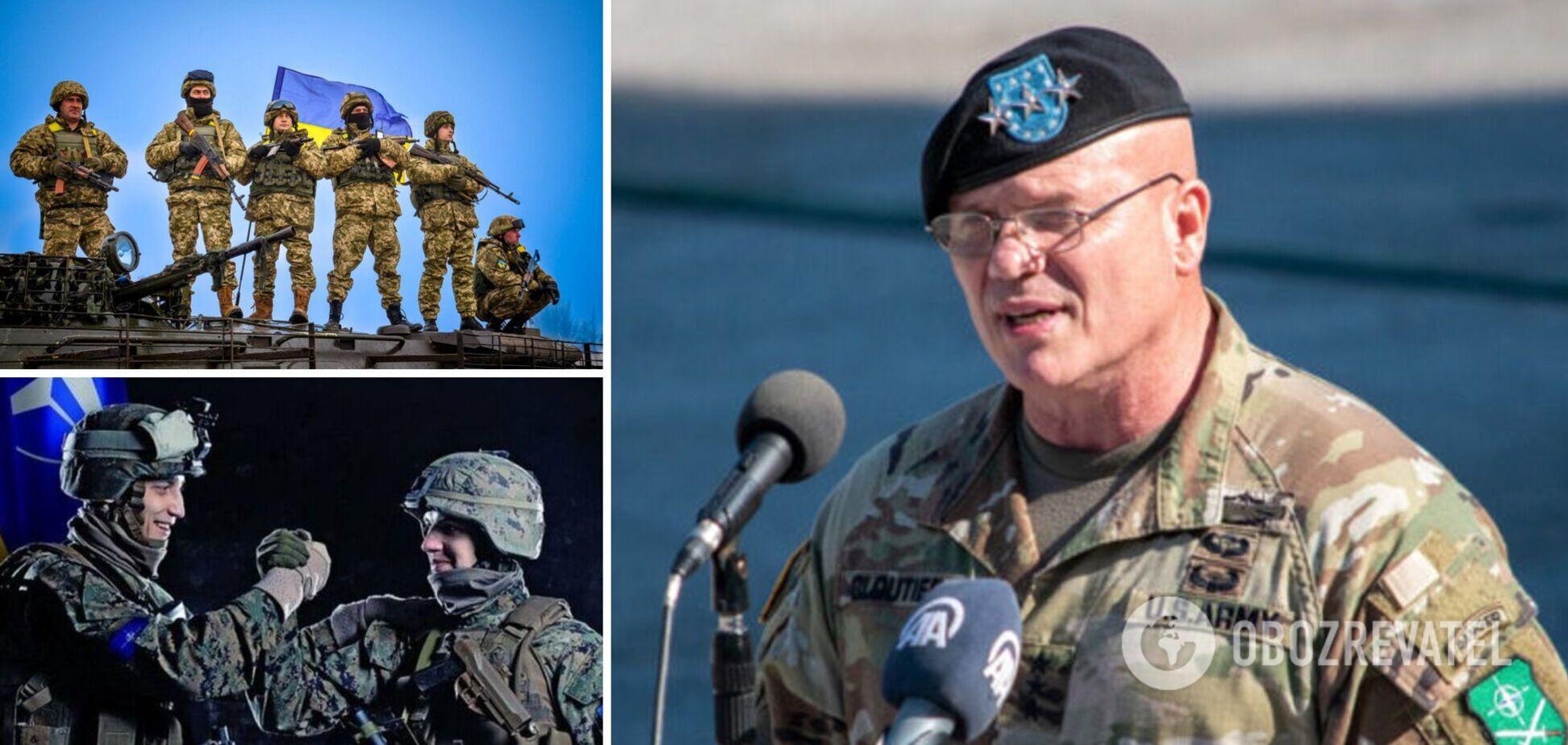 Командувач сухопутних військ НАТО Роджер Клотьє