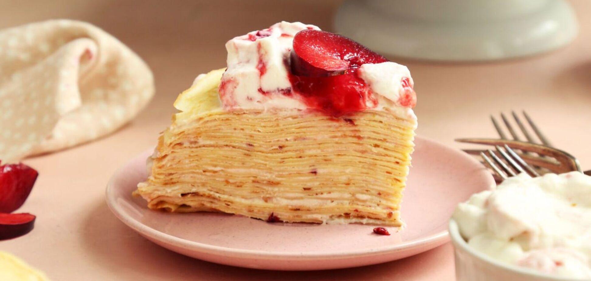 Что готовить на Масленицу: блинный торт от Лизы Глинской