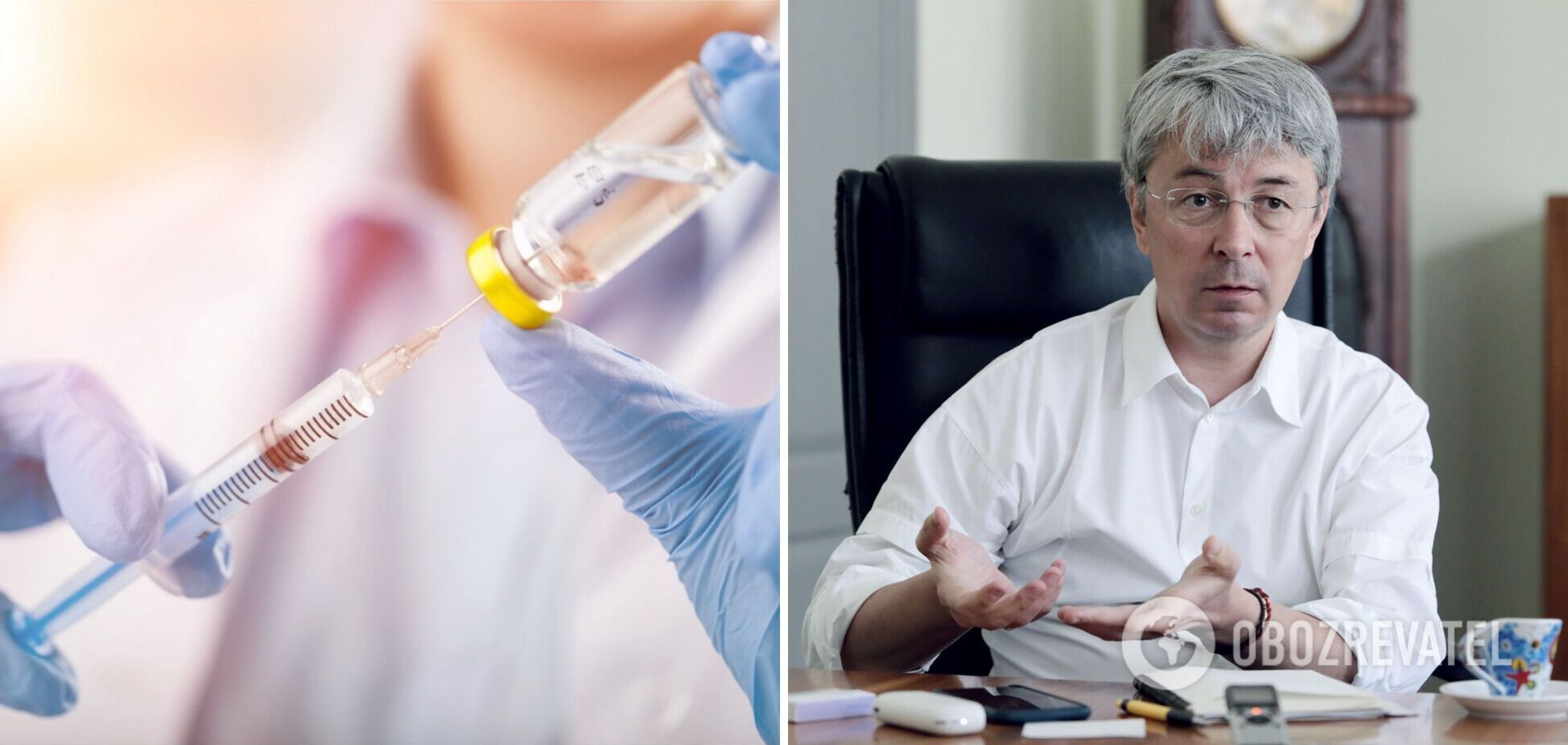 Міністр культури Ткаченко публічно вакцинувався проти коронавірусу. Відео