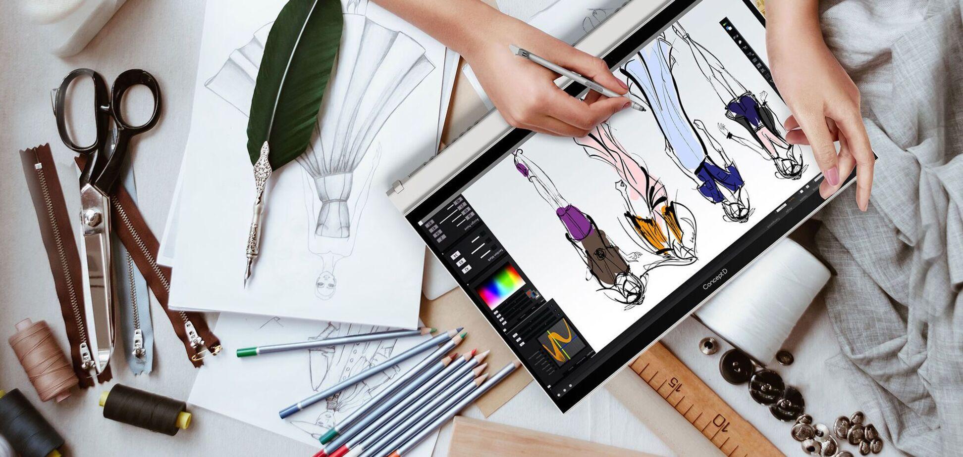 Устройства ConceptD 3 разработаны для эффективного использования специалистами в области графического дизайна