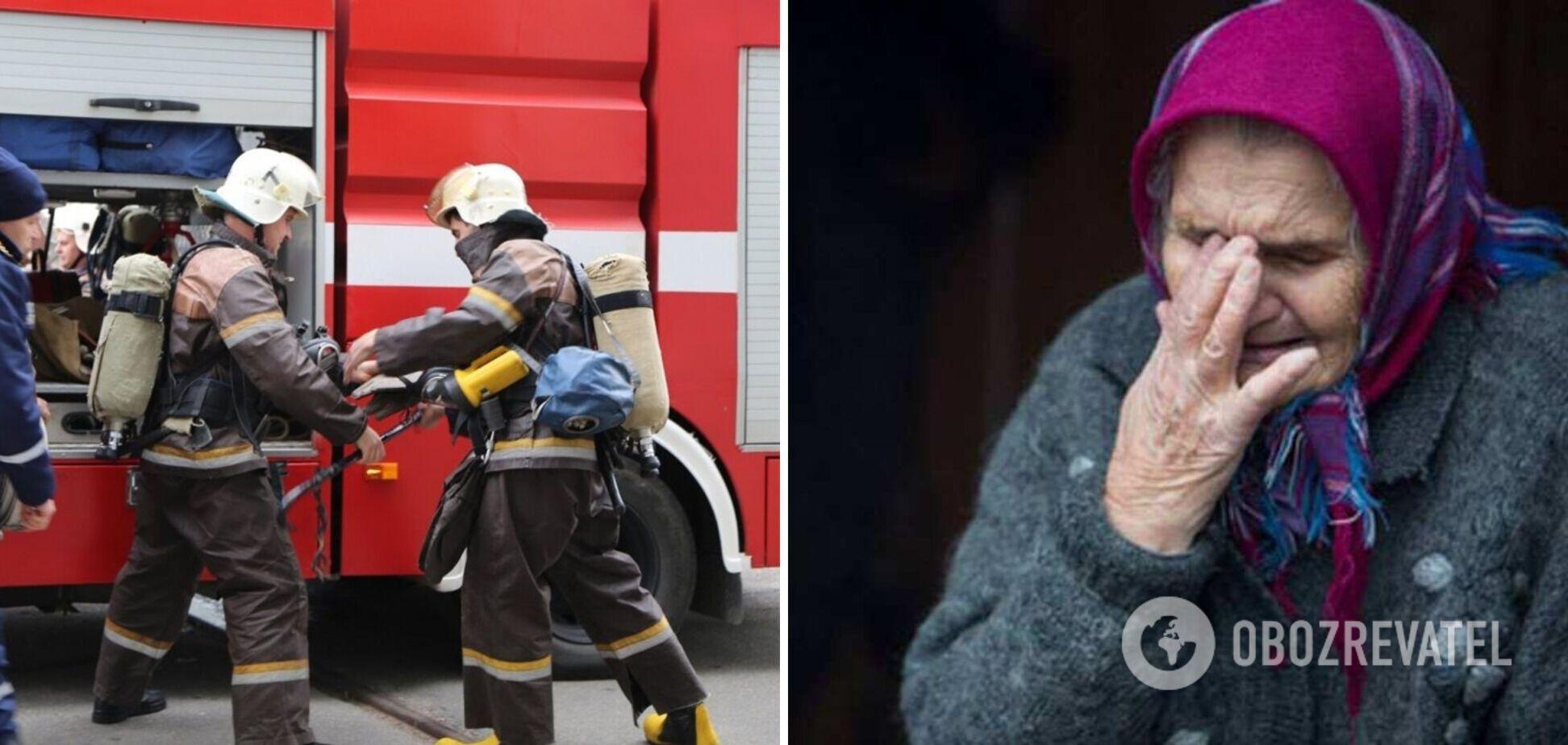 В Киеве загорелся дом для престарелых, эвакуировали 80 человек
