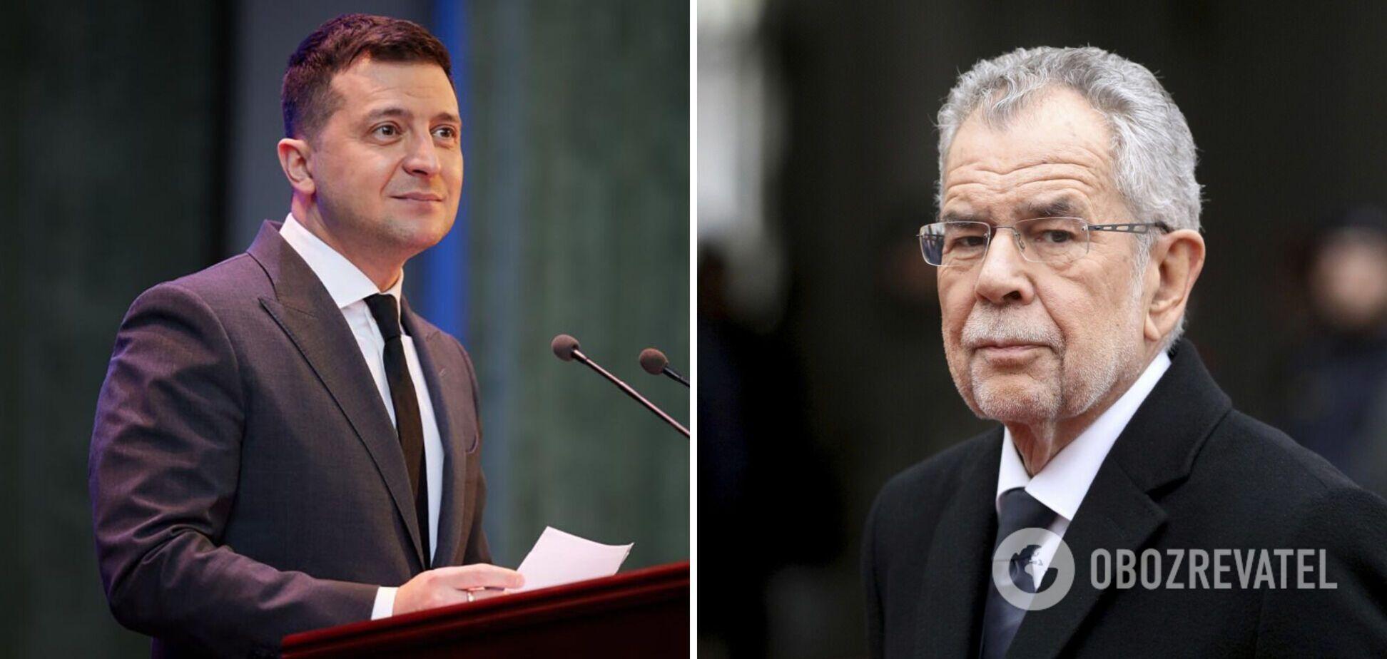 Зеленский обсудил с президентом Австрии Крым и позвал его в Украину