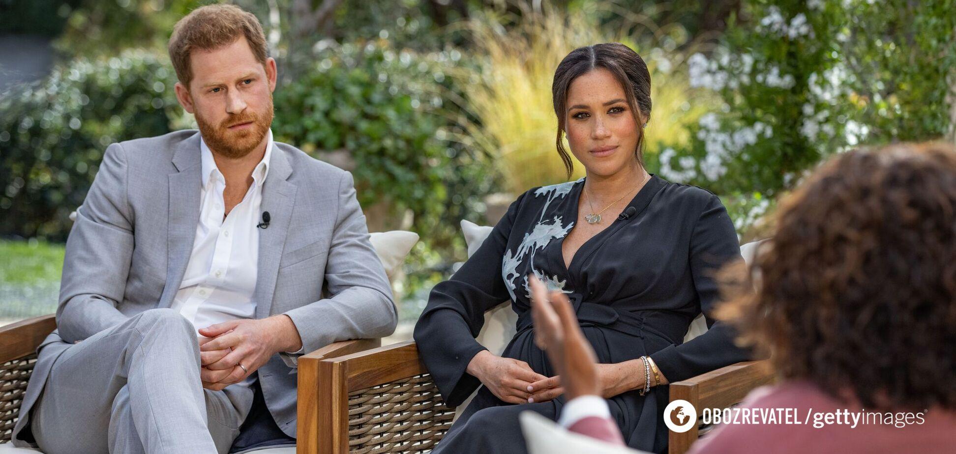 Рейтинг принца Гаррі та Меган Маркл різко впав після інтерв'ю Опрі