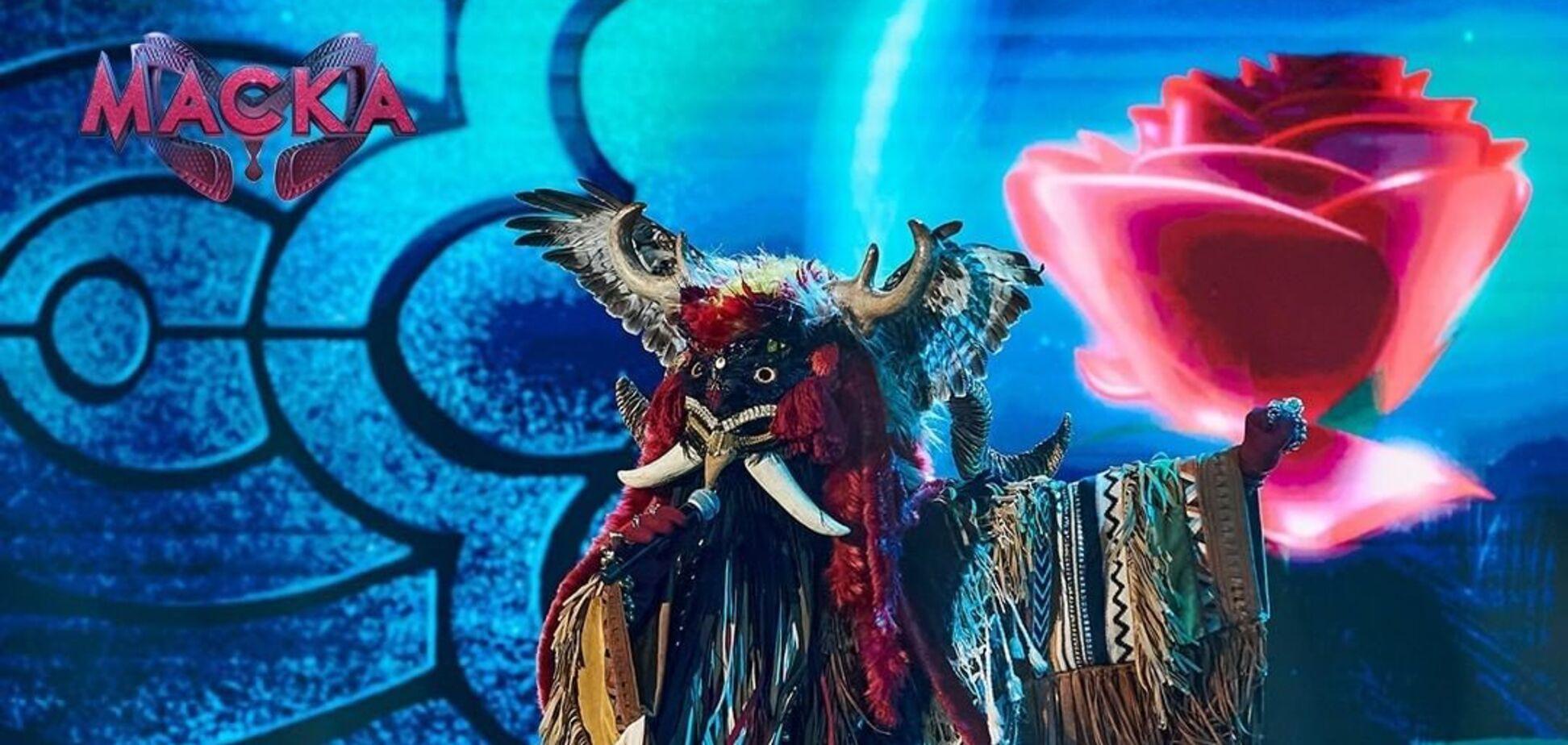Участник в образе Мольфара на шоу 'Маска'