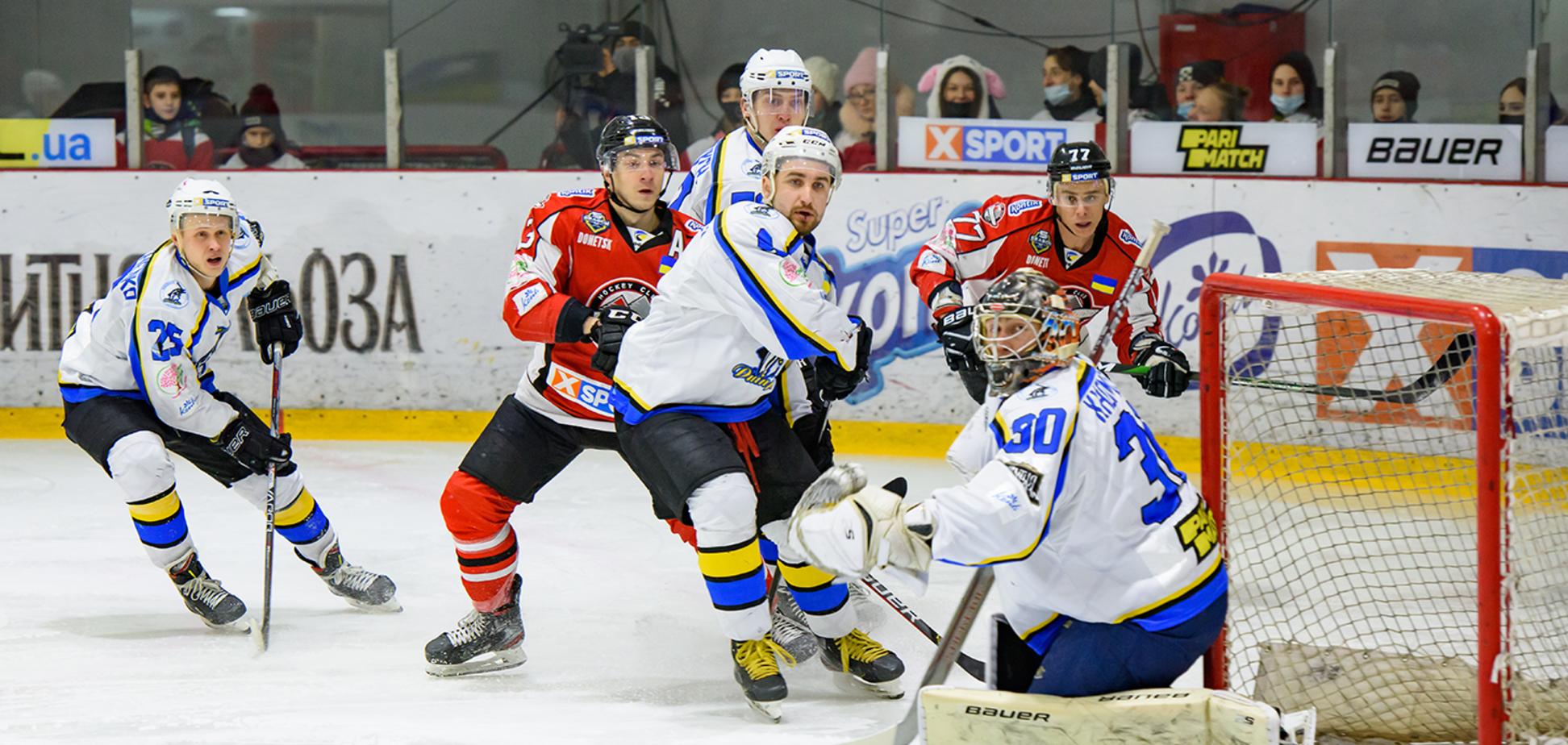 ХК 'Донбас', двічі поступаючись по ходу зустрічі, обіграв 'Дніпро' в УХЛ