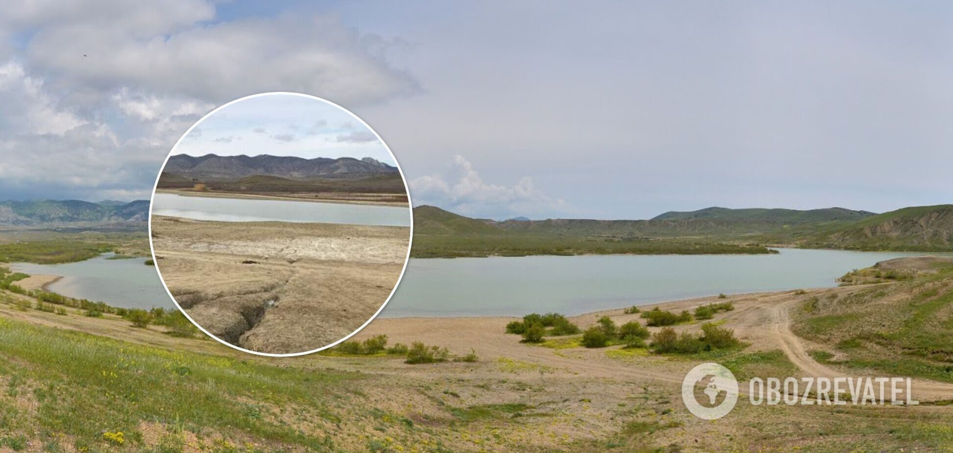 В Крыму критически обмелело пресноводное озеро: может полностью высохнуть