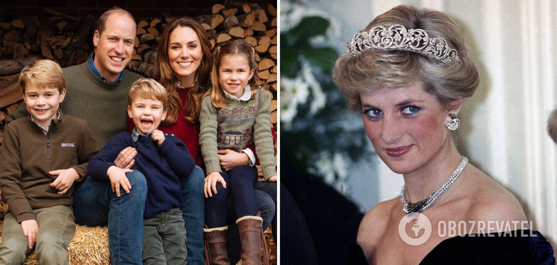 Дети принца Уильяма и Кейт Миддлтон трогательно поздравили с Днем матери принцессу Диану