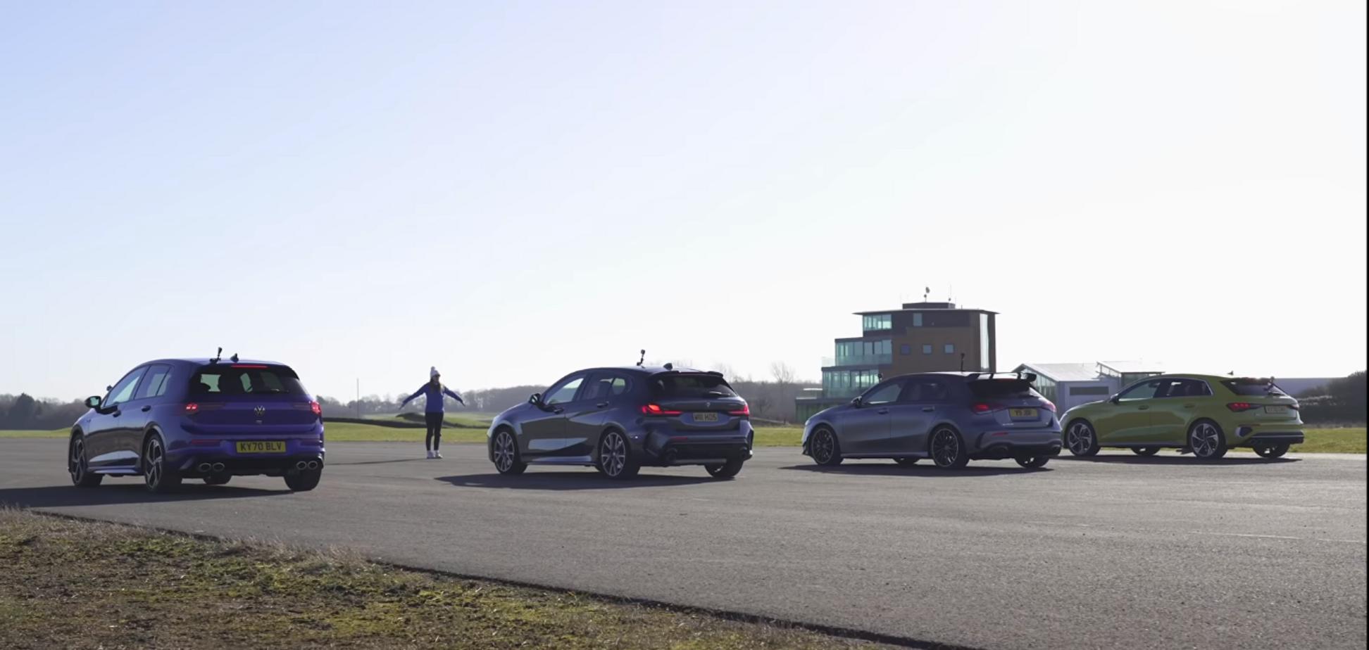 VW Golf R випробували в драг-рейсі проти німецьких хетчбеків