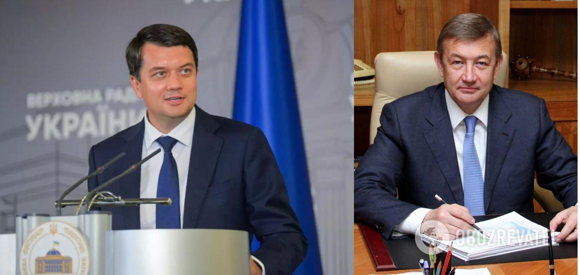 Разумков взял советника, который поддерживал 'Беркут' и носил георгиевскую ленточку