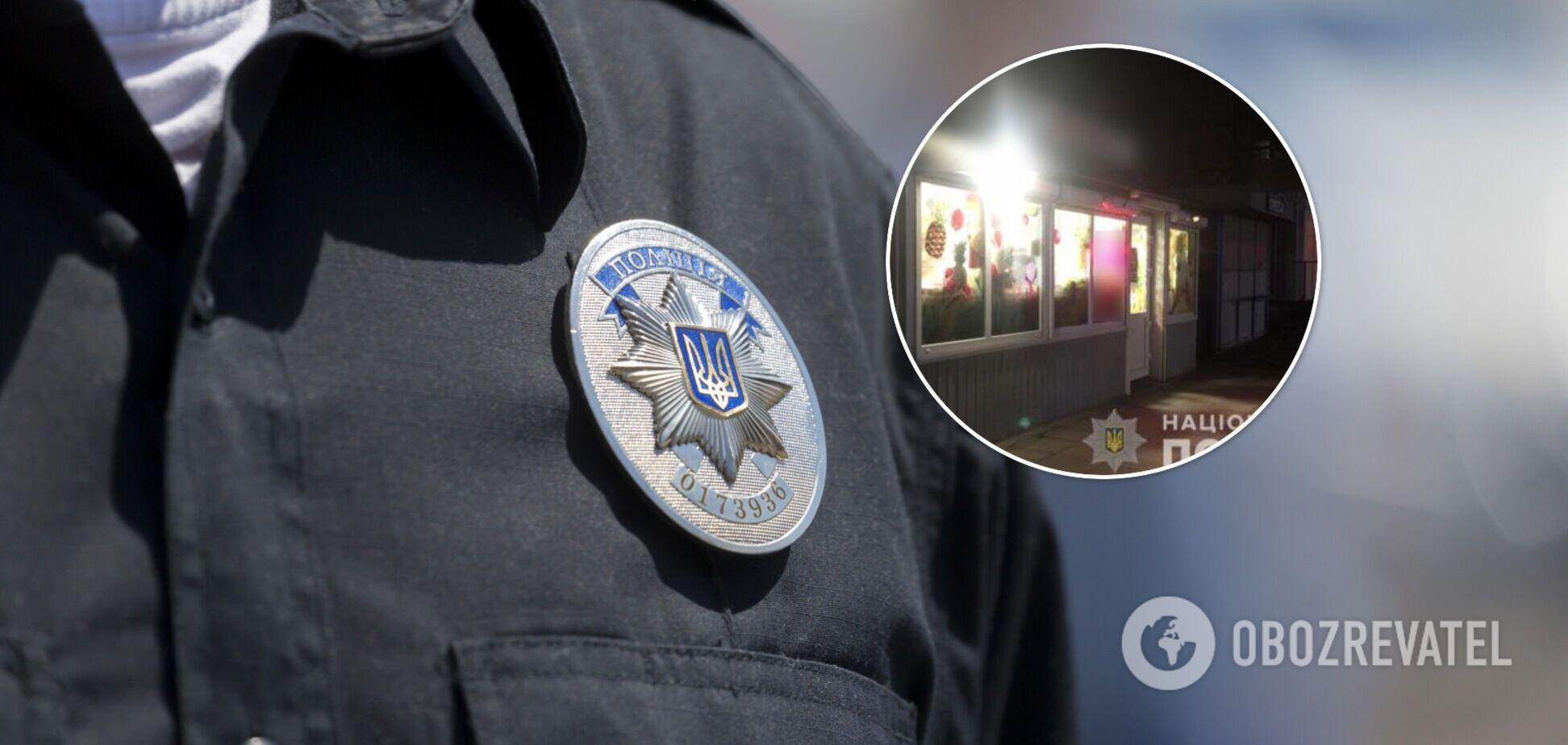 На Киевщине продавщица магазина отбилась от грабителя, сбежать ему не дали очевидцы. Фото