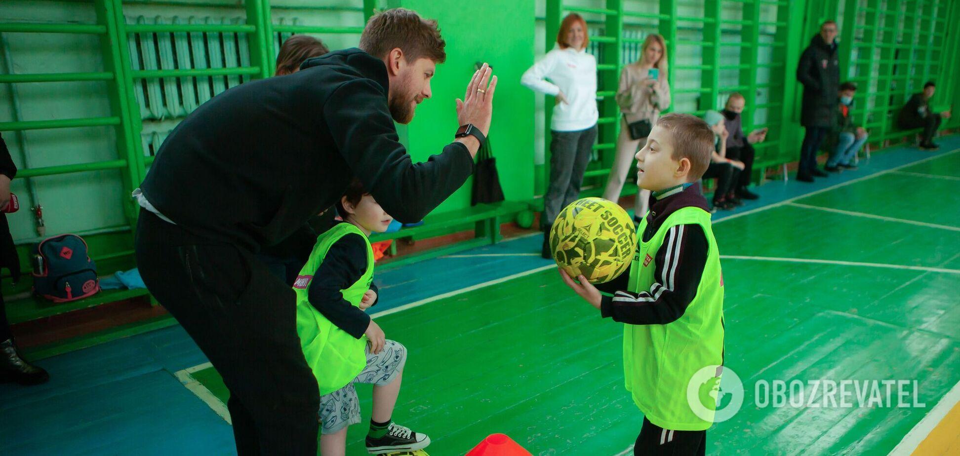 В Ривне прошло инклюзивная тренировка для детей от Parimatch Foundation