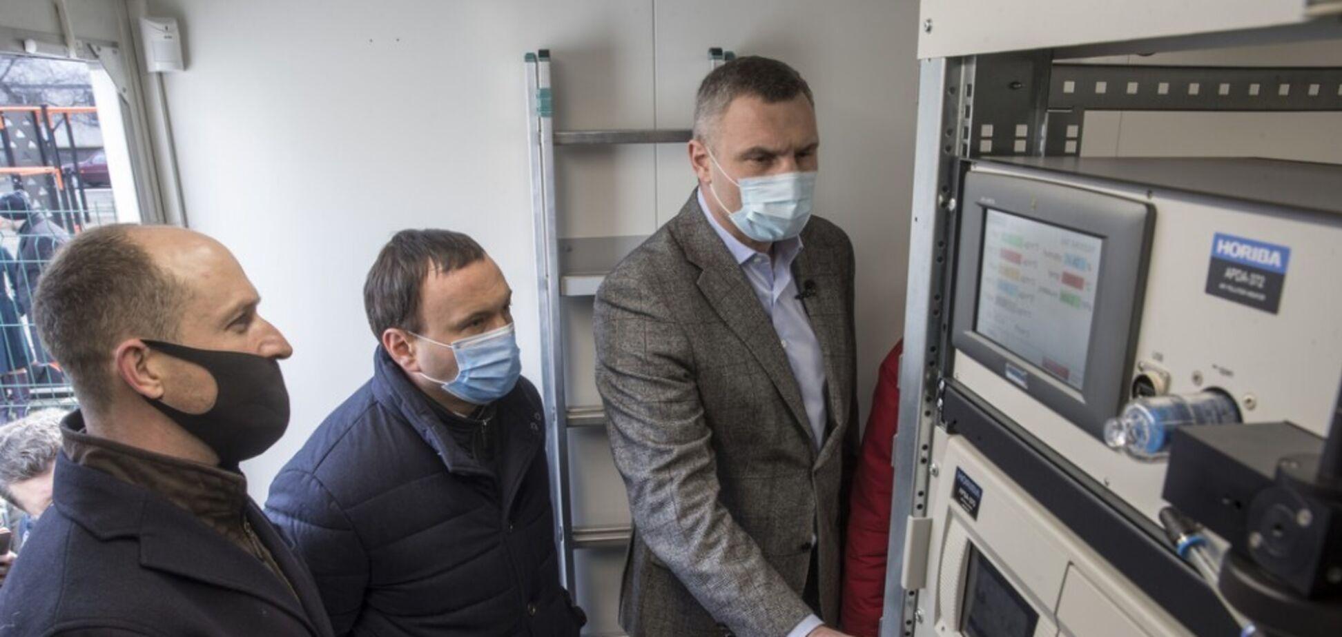 У Києві встановили перші пости моніторингу повітря: Кличко перевірив їхню роботу. Фото