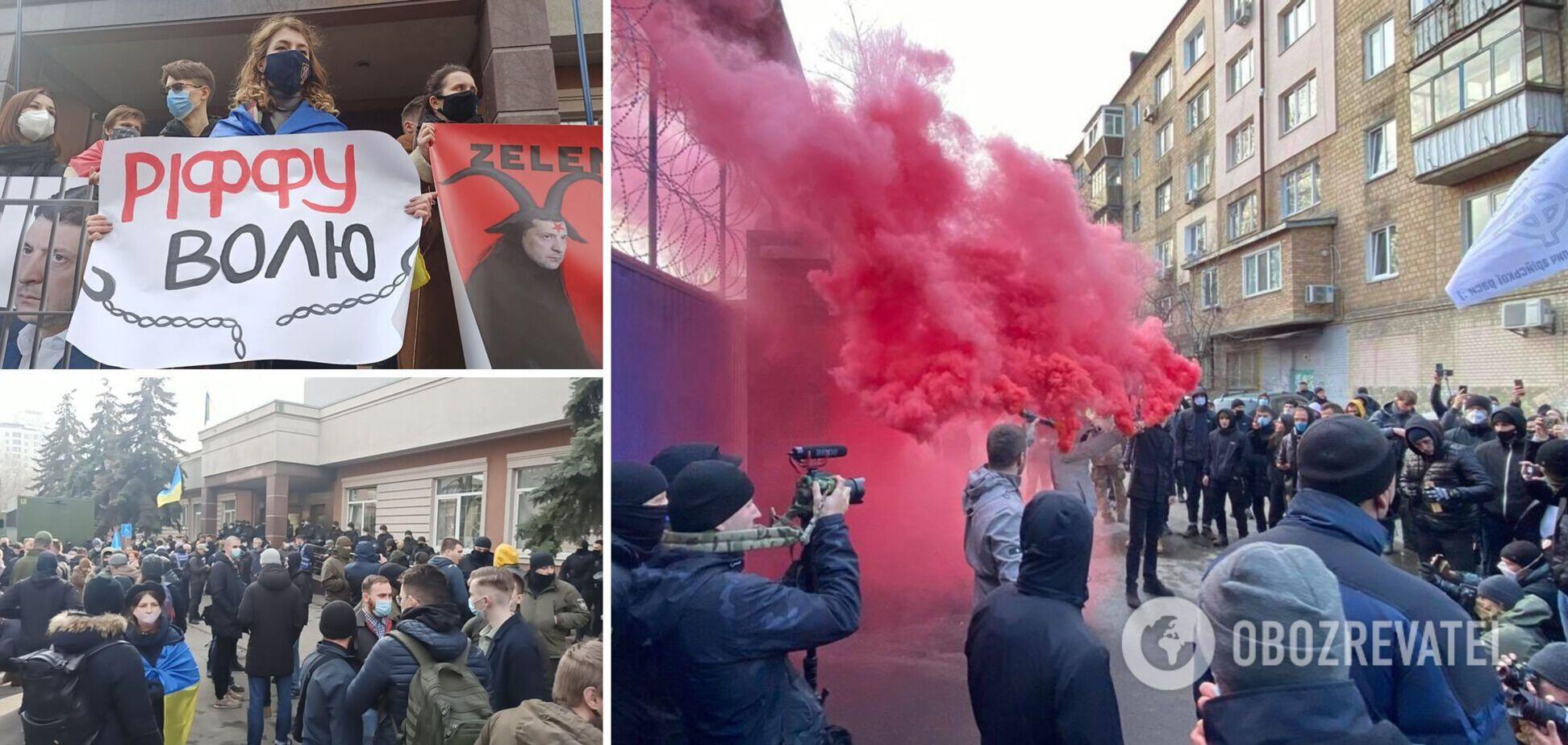 Прихильники Антоненка влаштували марш і акцію під СІЗО: суд не відбувся. Фото та відео