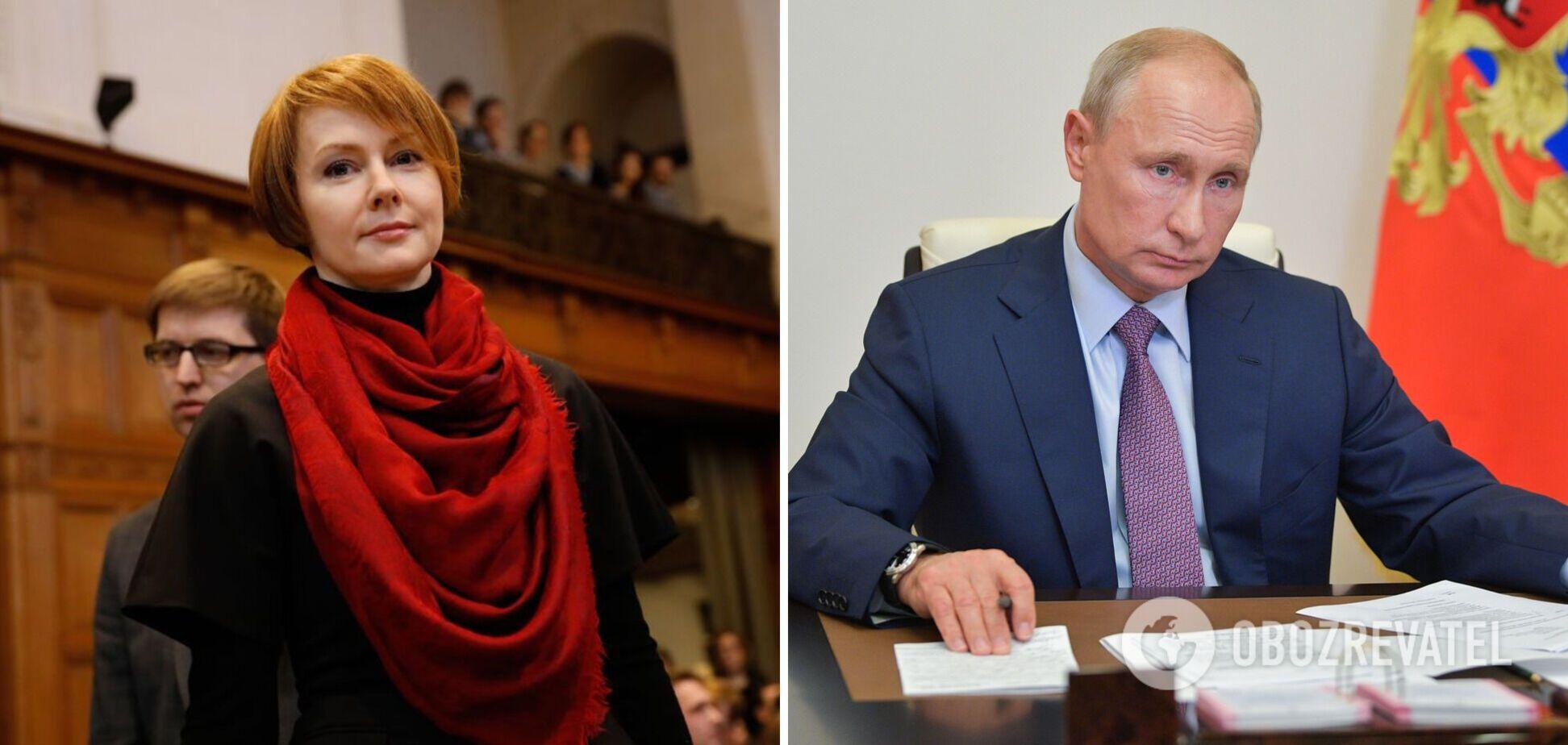 Дипломатка Лана Зеркаль та президент Росії Володимир Путін