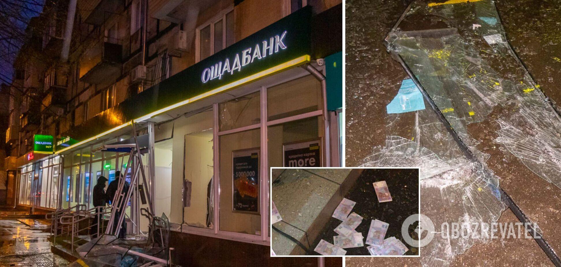 В Днепре ночью взорвали банкомат и украли деньги. Фото