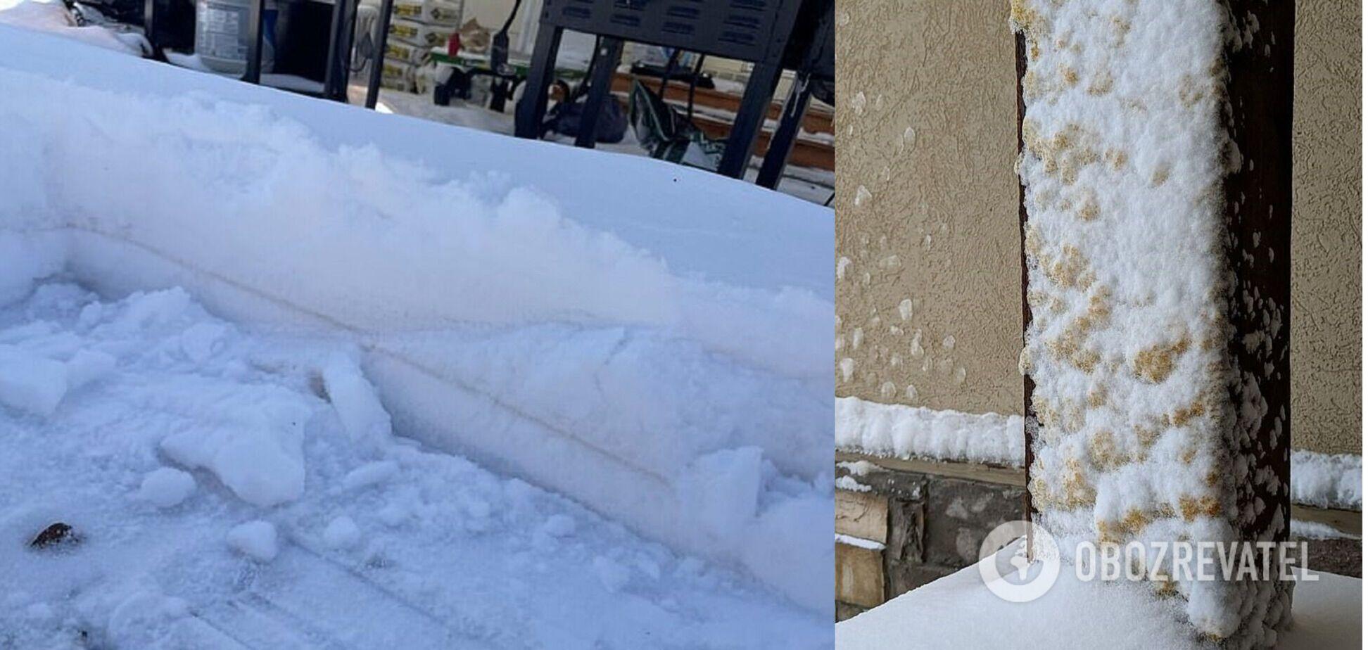 У США випав коричневий сніг. Фото