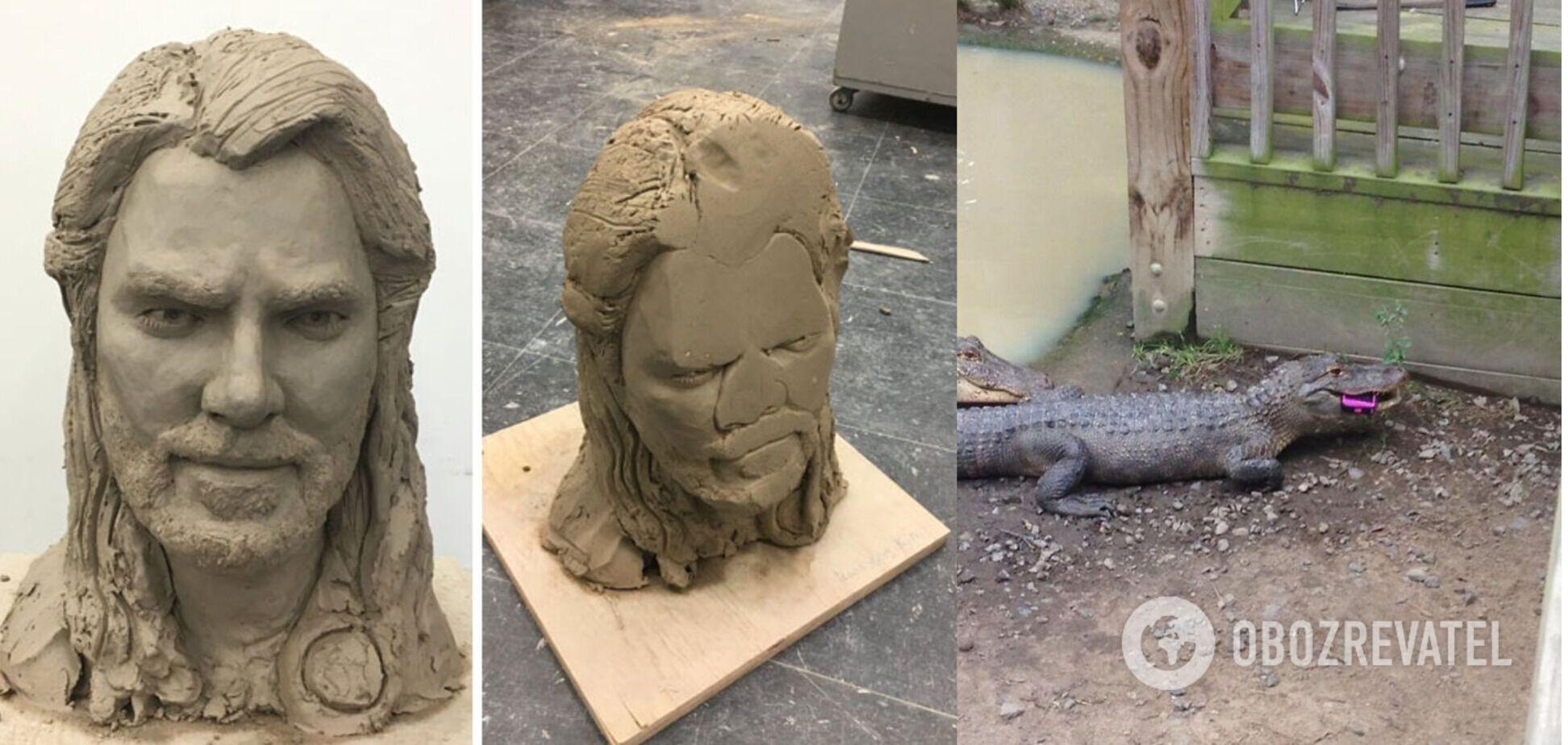 Крокодил з'їв смартфон, а витончена скульптура впала з полиці