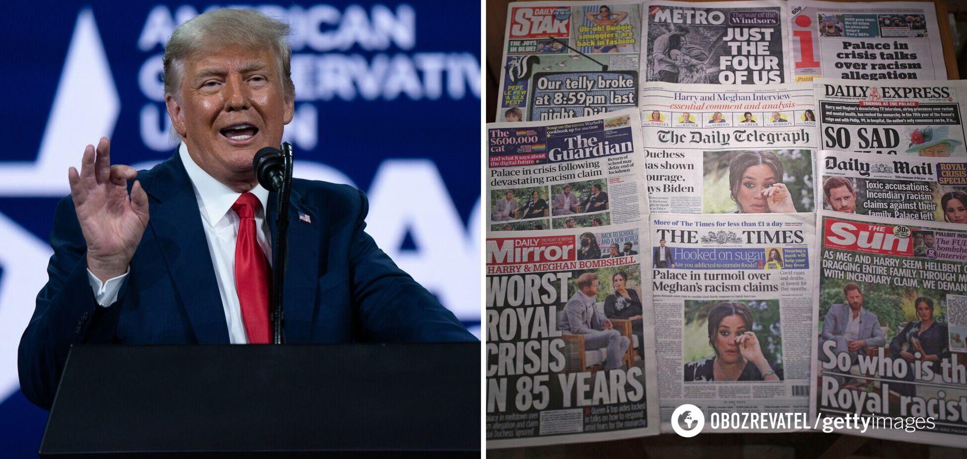 Трамп заявив про бажання балотуватися в президенти США після слів Меган Маркл