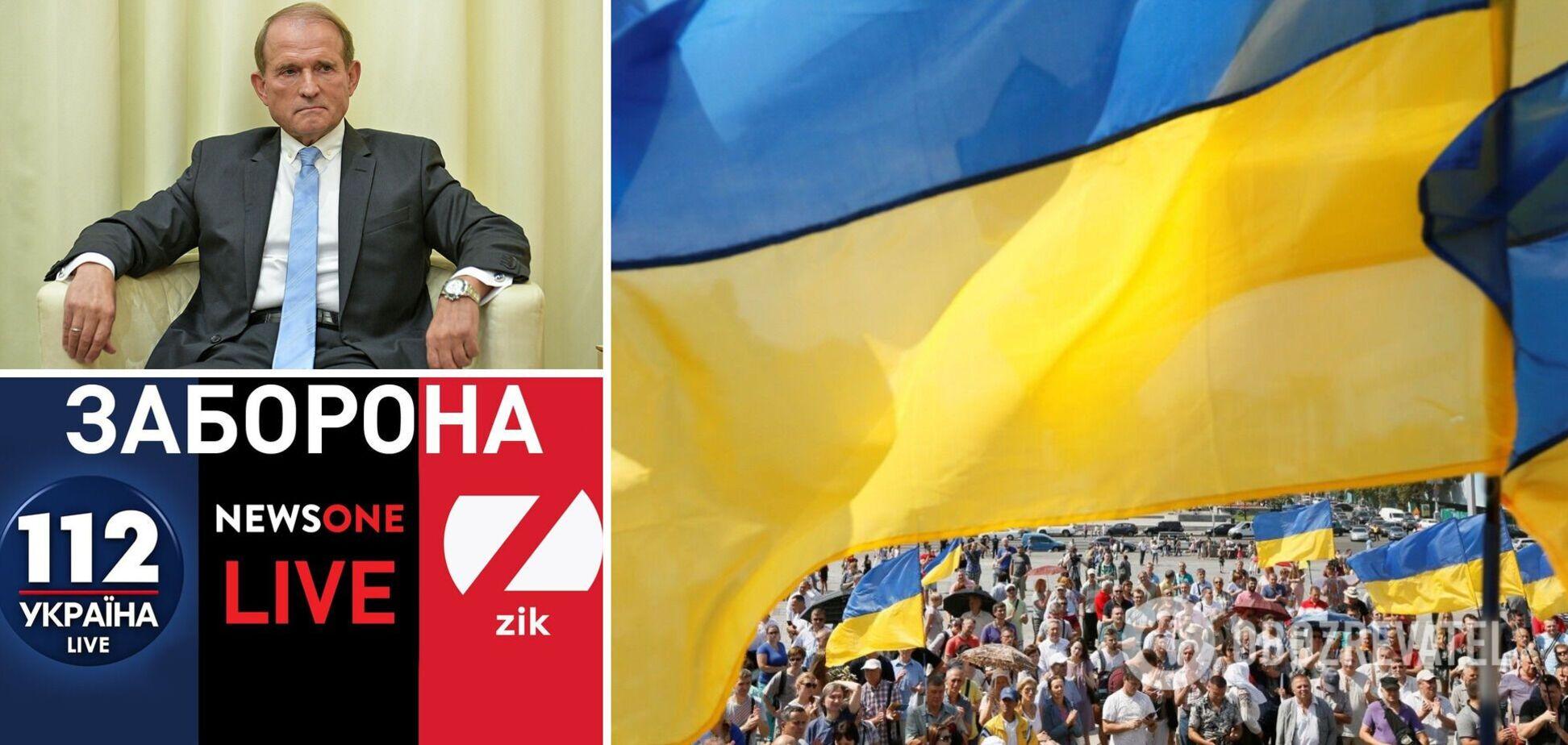 Більшість опитаних українців підтримали санкції проти Медведчука і його телеканалів