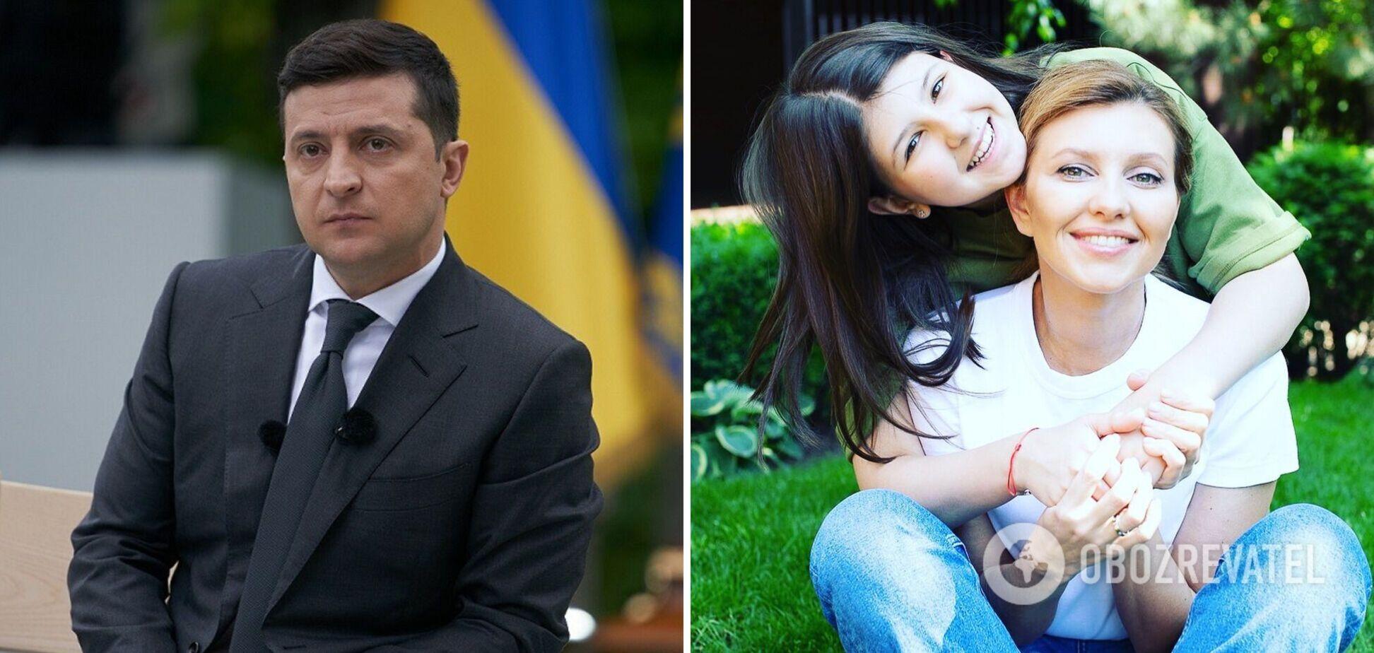 У мережі згадали архівний знімок Зеленського з дружиною і донькою