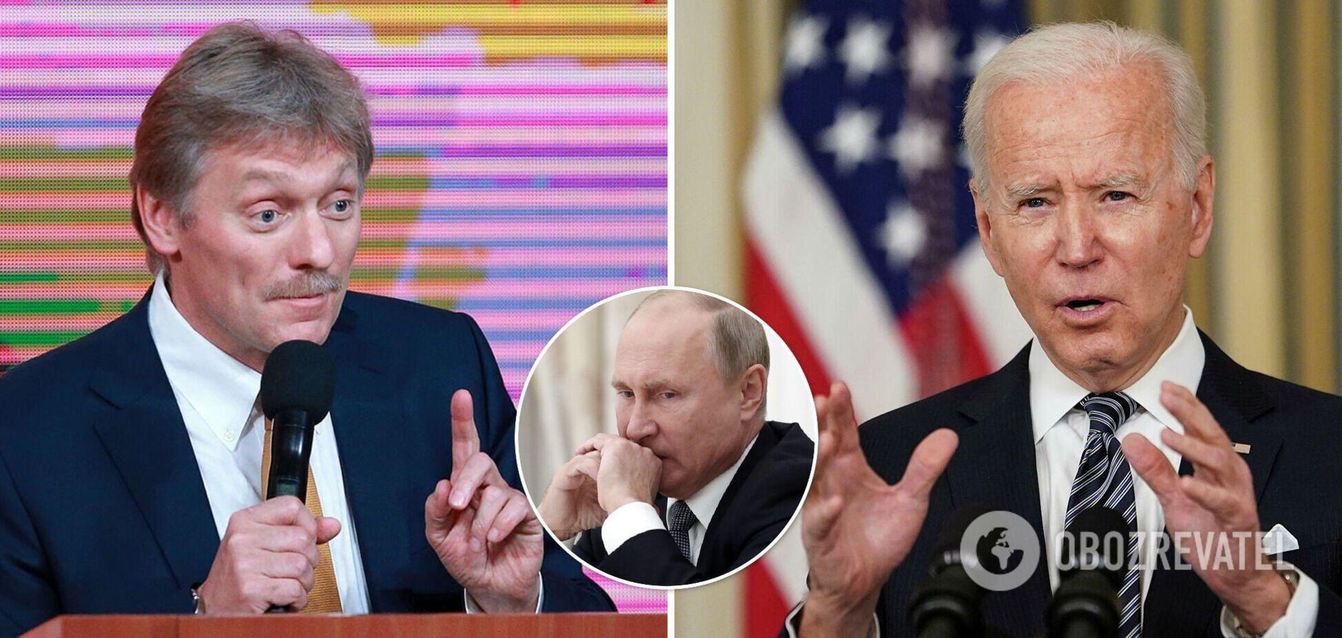 Байден дуже погано висловився про Путіна, такого в історії ще не було, – Пєсков