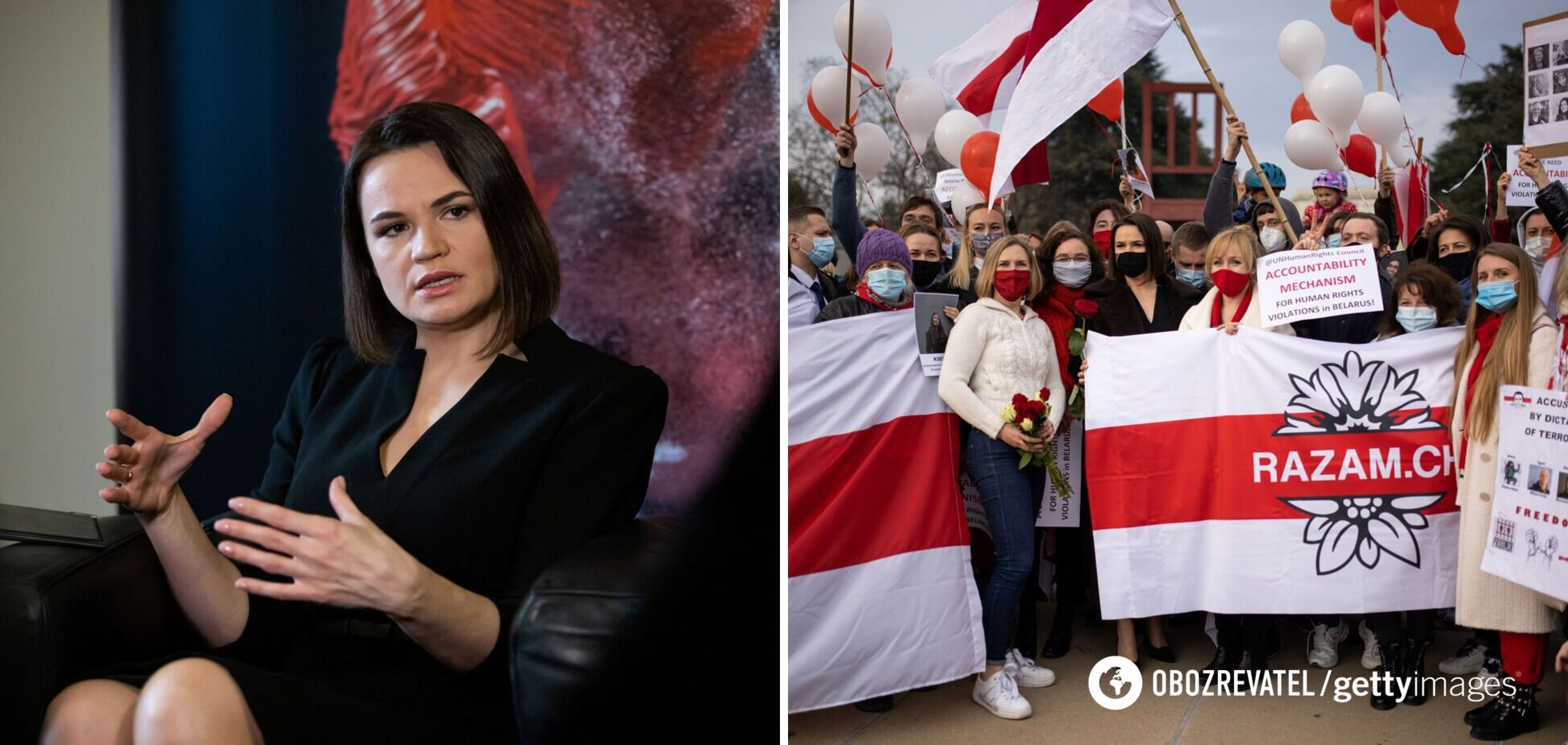 Тихановська оголосила всенародне голосування, щоб почати переговори з владою Білорусі