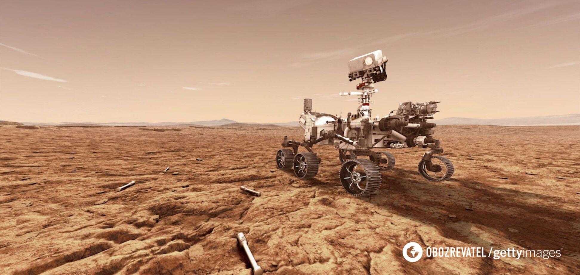 NASA показало, как звучит передвижение Perseverance по Марсу. Видео