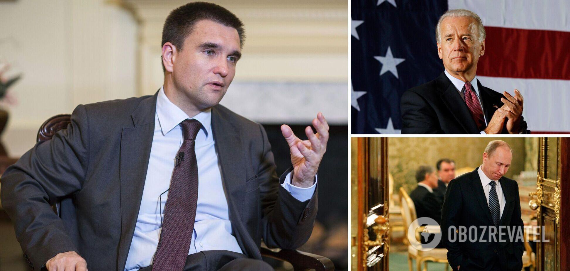 Клімкін: Байден перезавантажуватиме режим Путіна, Україні загрожує небезпека
