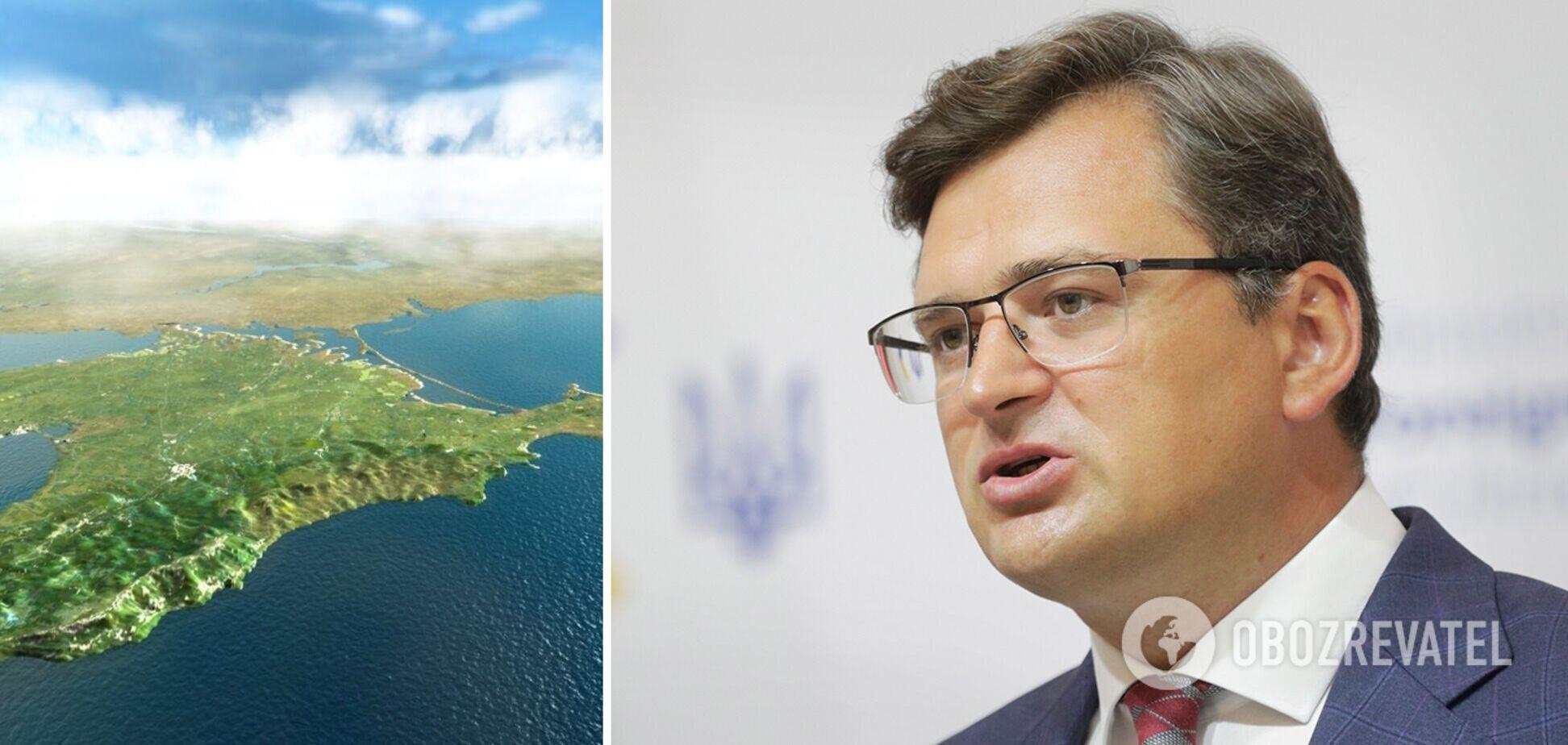 Кулеба назвав два головних завдання щодо повернення Криму Україні