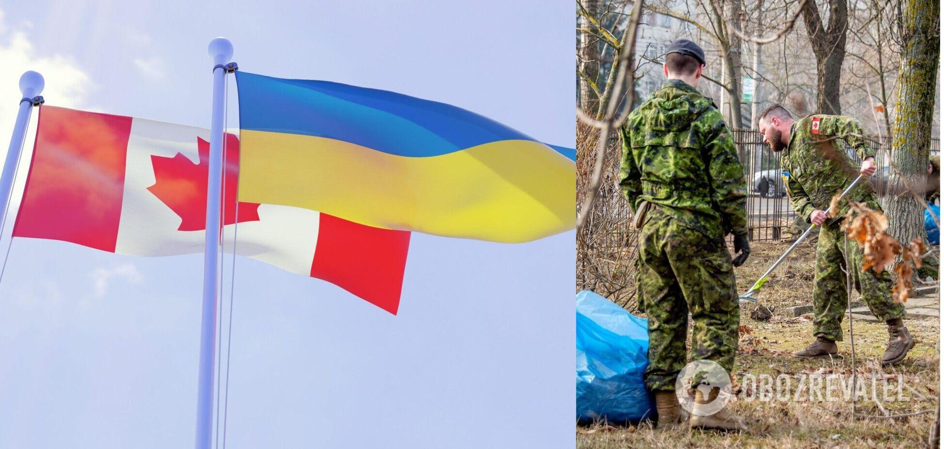 У Миколаєві канадські військові прибирали опале листя: Генштаб показав фото