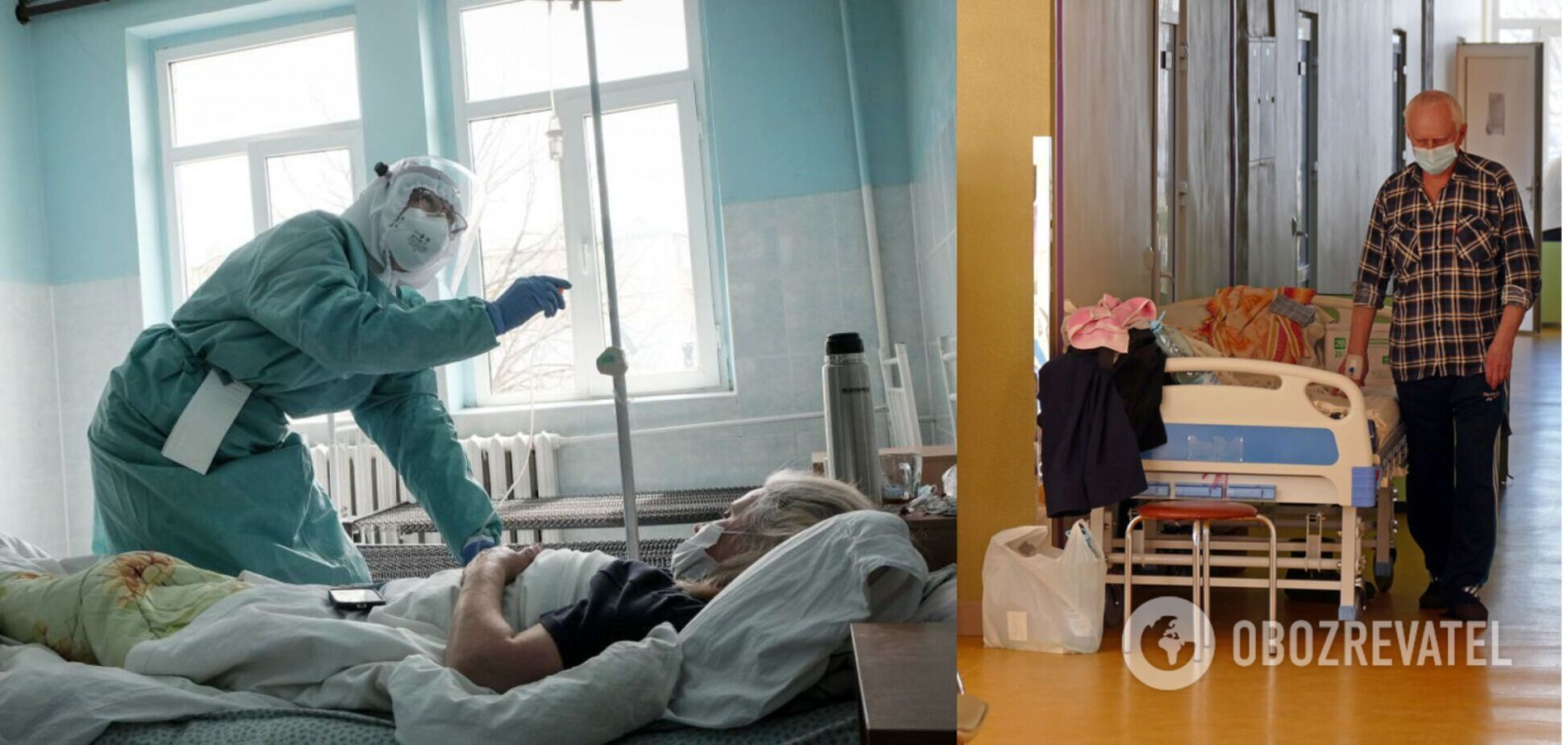 В Івано-Франківську лікарні переповнені, пацієнти з COVID-19 лежать в коридорах
