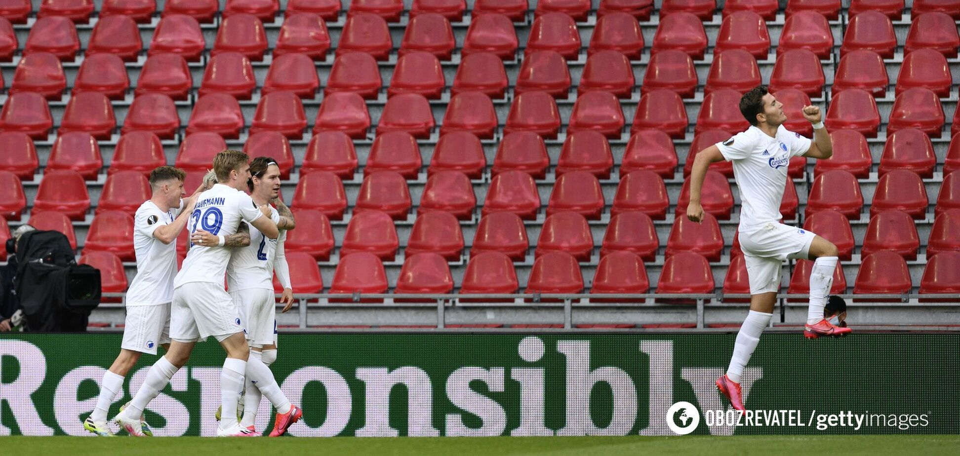 Гравці 'Копенгагена' святкують гол