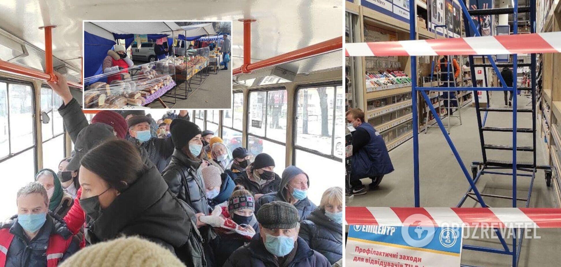 Як Київ дотримувався локдауну в перший день обмежень: фоторепортаж