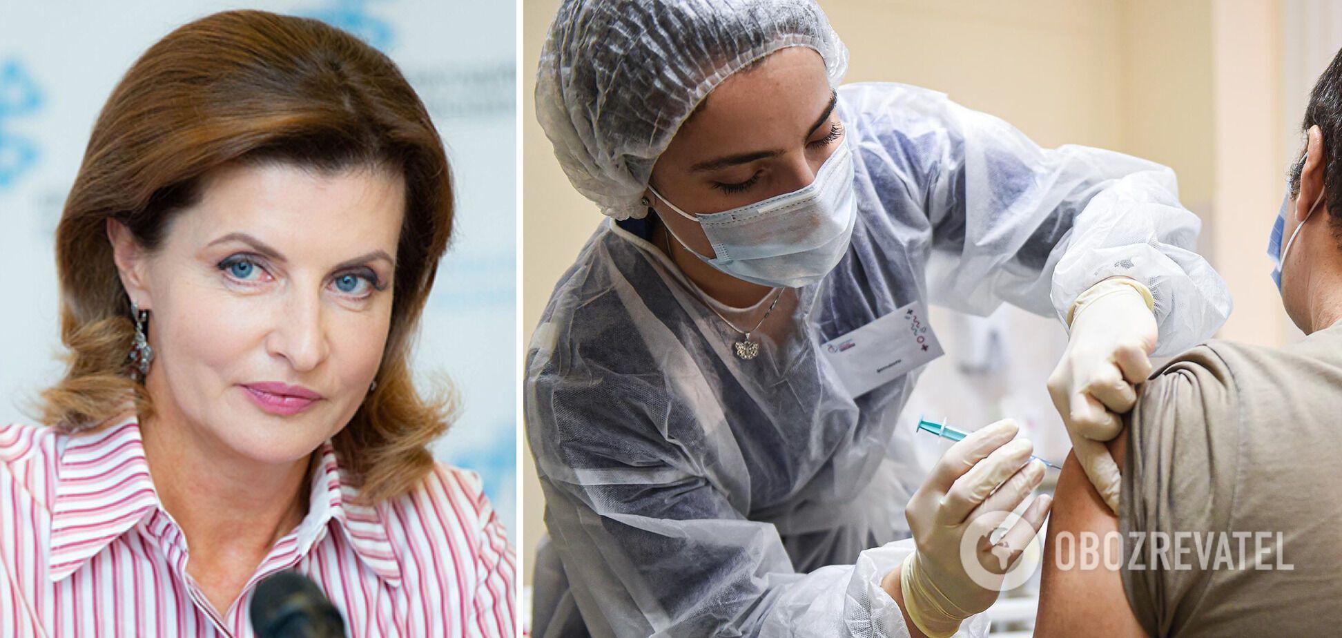 Марина Порошенко: украинцам нужны миллионы доз вакцин, но их нет