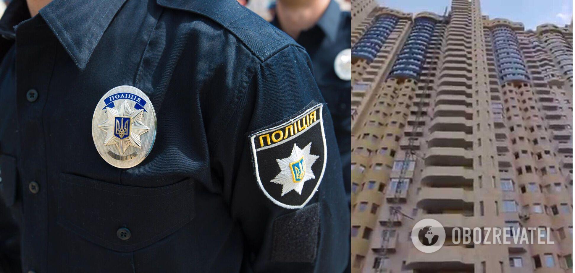 В Киеве девушка выпрыгнула из высотки. Фото 18+